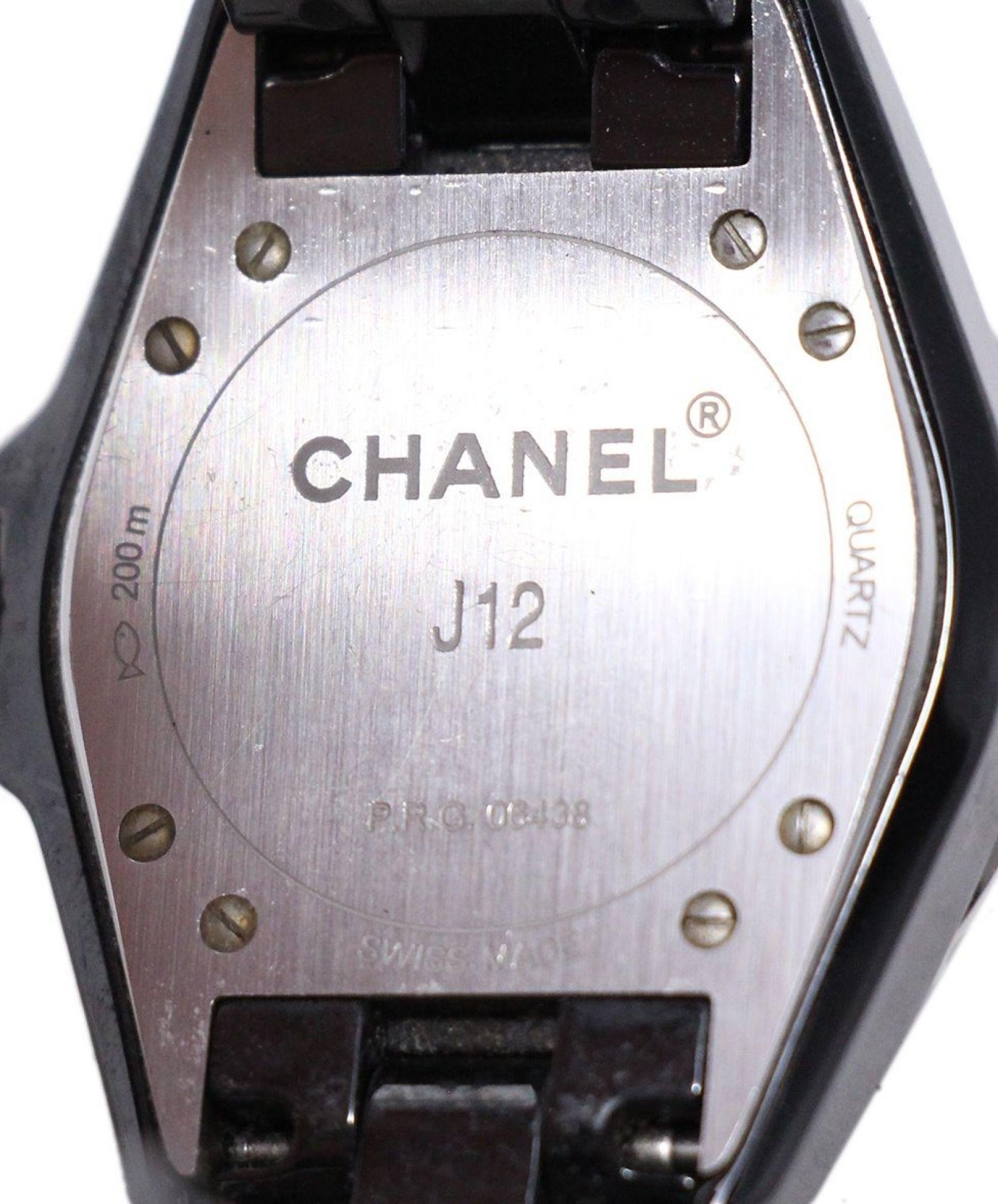 CHANEL BLACK GUNMETAL DIAMOND WATCH