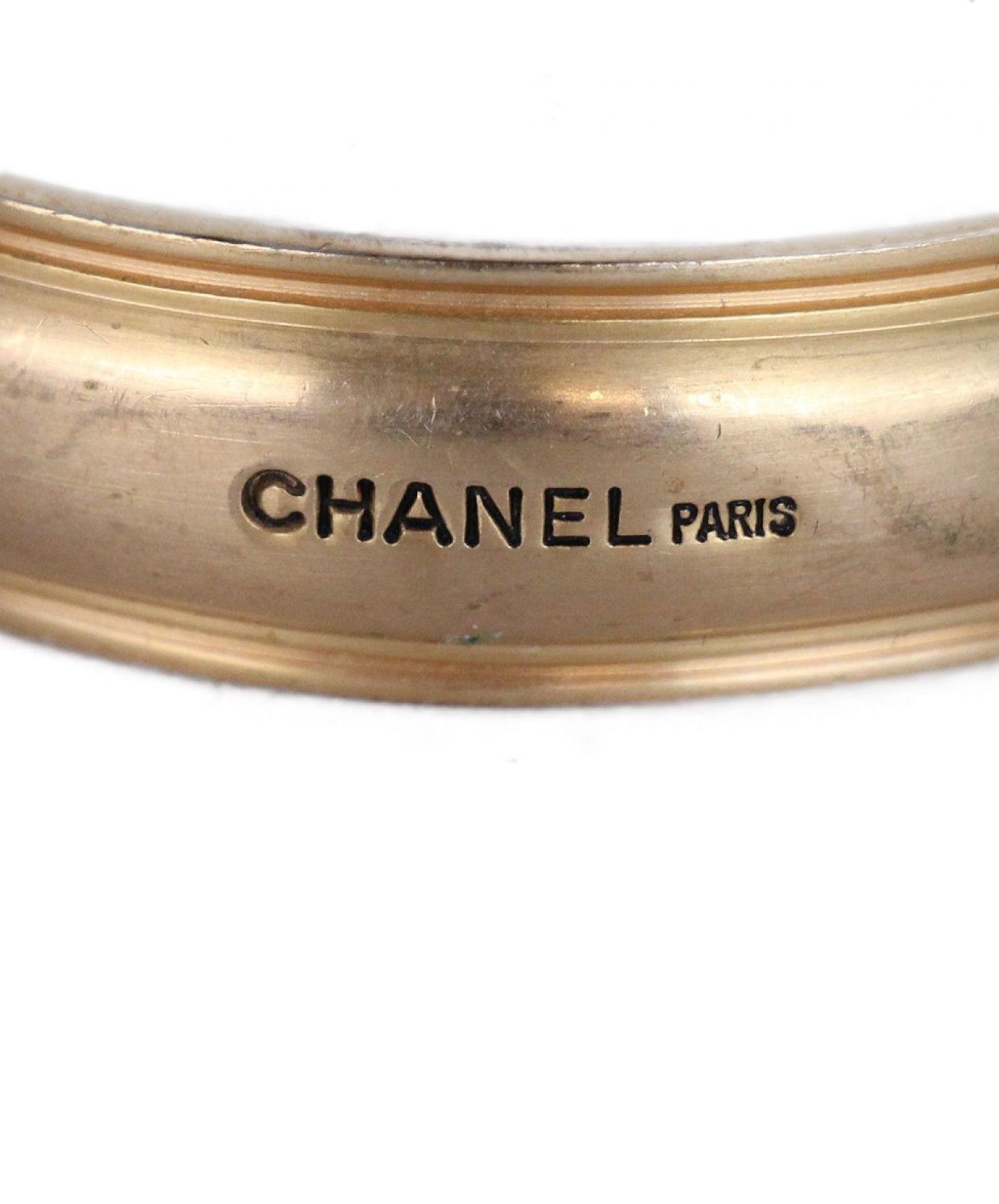 CHANEL BRONZE METAL BRACELET