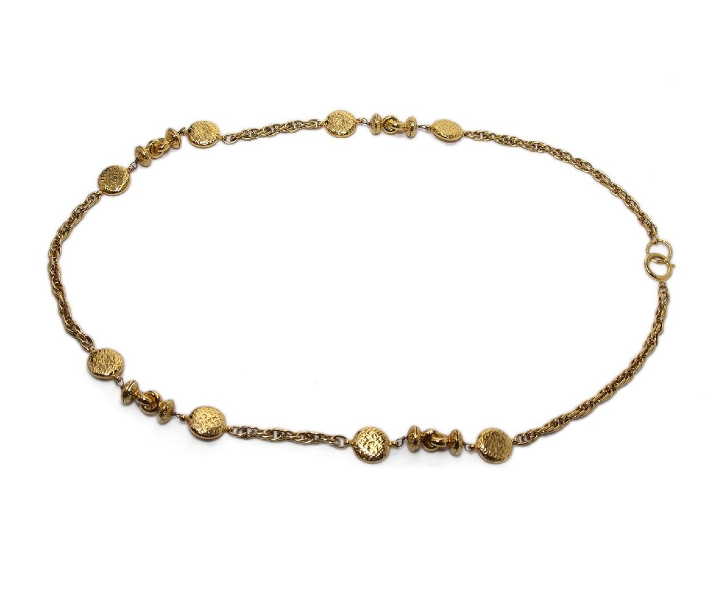 CHANEL LONG LINK METALLIC GOLD NECKLACE
