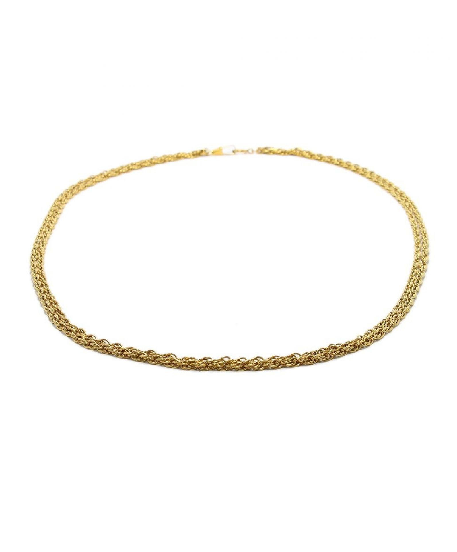 CHANEL METALLIC GOLD METAL CHAIN NECKLACE