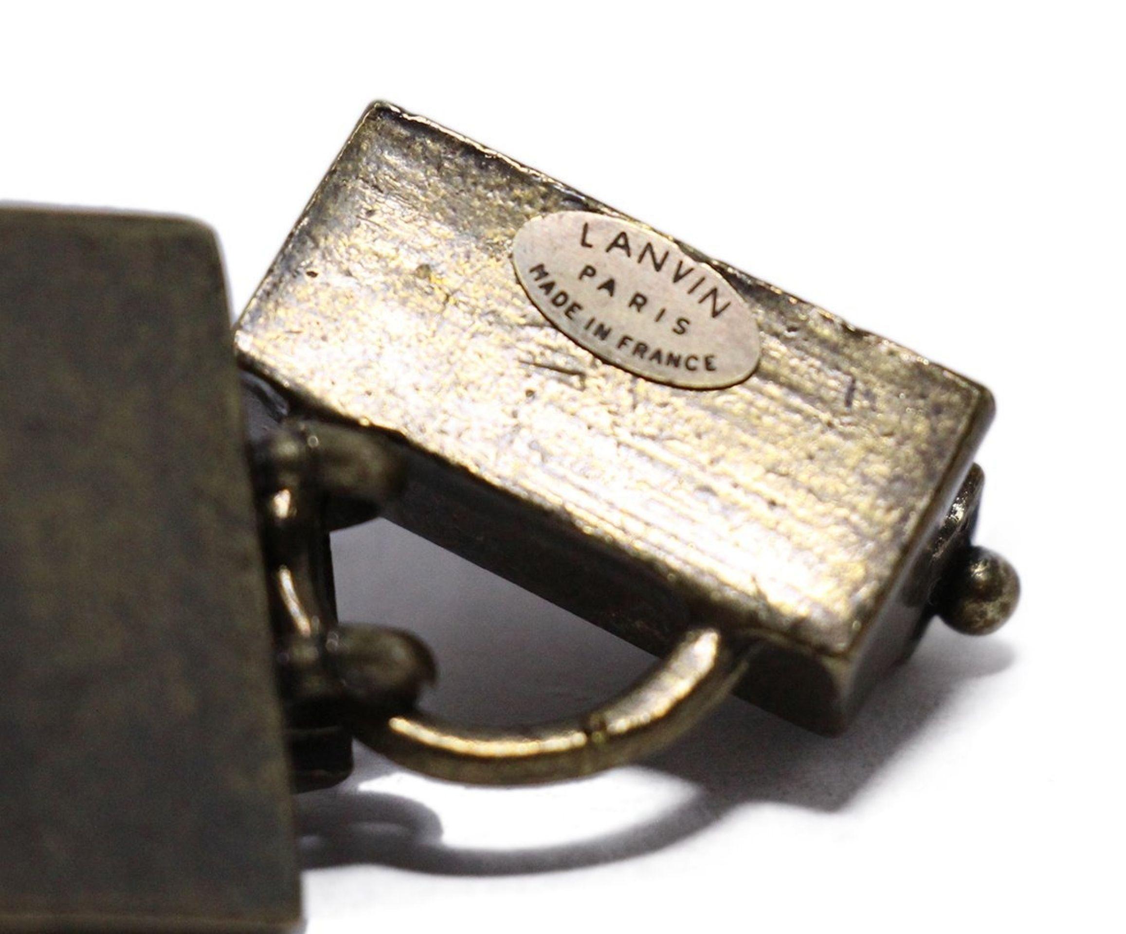 LANVIN METALLIC GOLD WITH RHINESTONES COPPER CHAIN BRACELET