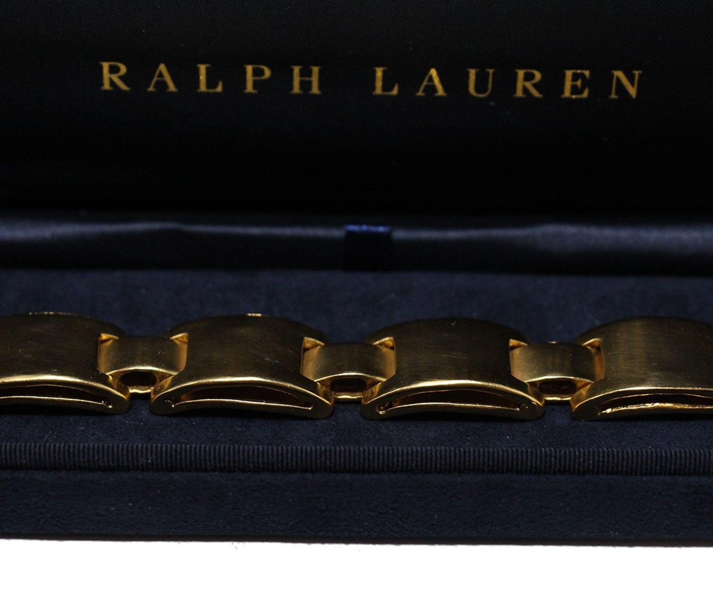 RALPH LAUREN METALLIC GOLD BRACELET