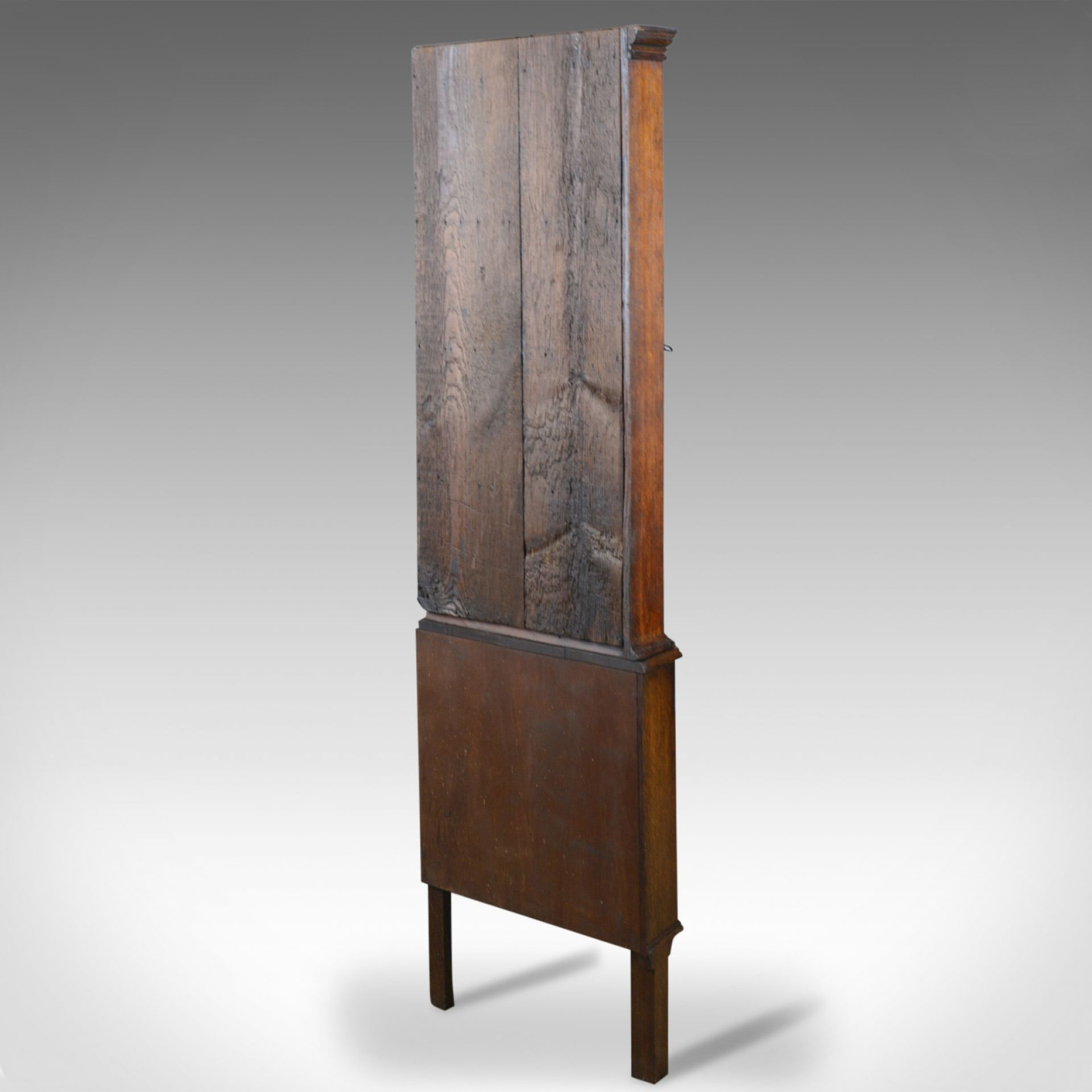 Antique Corner Cabinet on Stand, George III, Oak, Mahogany, c.1770 and Later