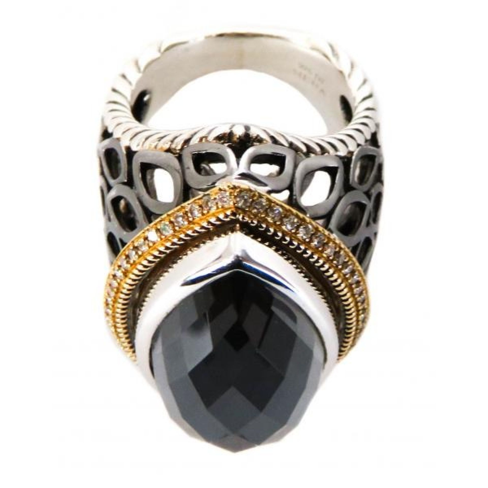 Hera Sterling Silver 18K Hematite Mist Paradise Collection Ring