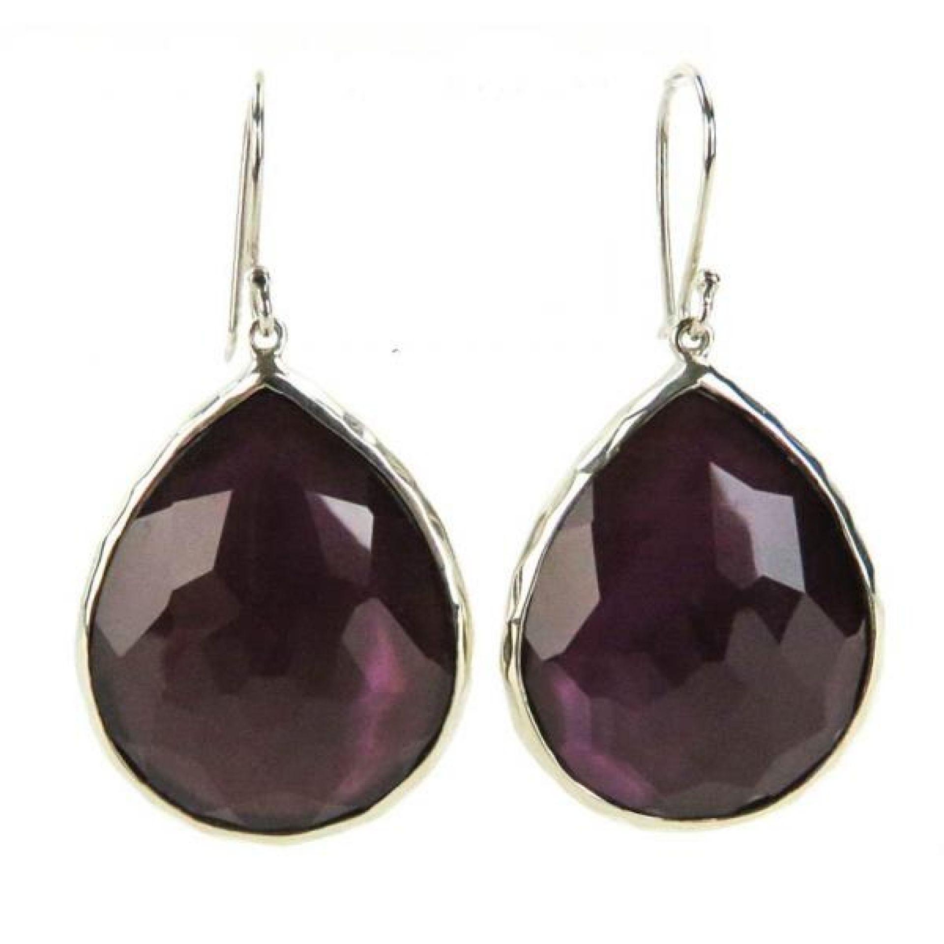 Ippolita Sterling Silver Purple Amethyst Rock Candy Teardrop Earrings