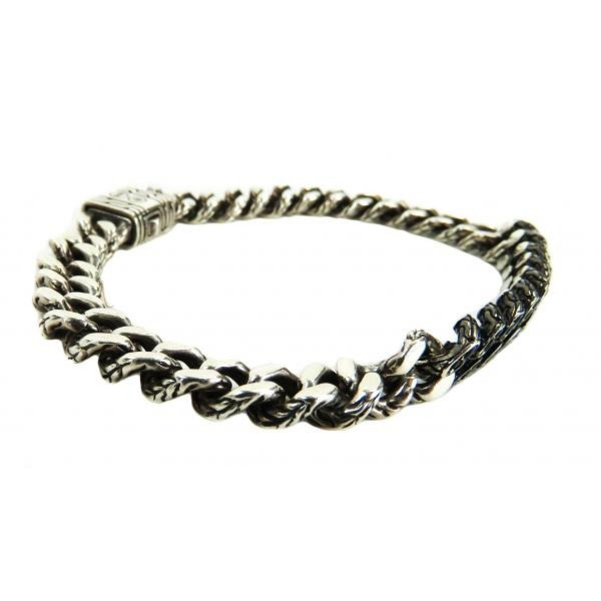 John Hardy Sterling Silver Black Sapphire Classic Chainlink Bracelet