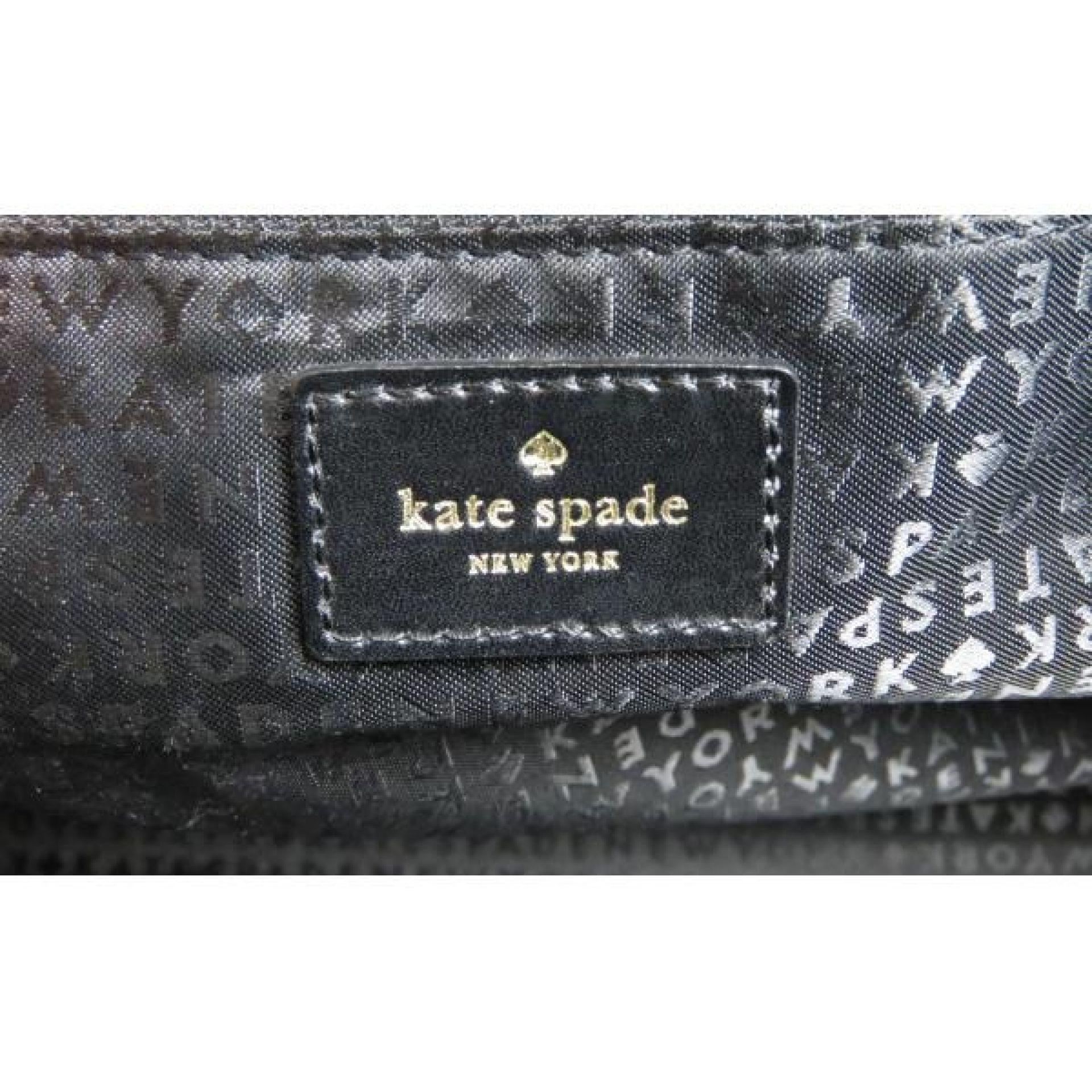 Kate Spade Black Lizard Embossed Leather Alavita Halsey Tote Bag