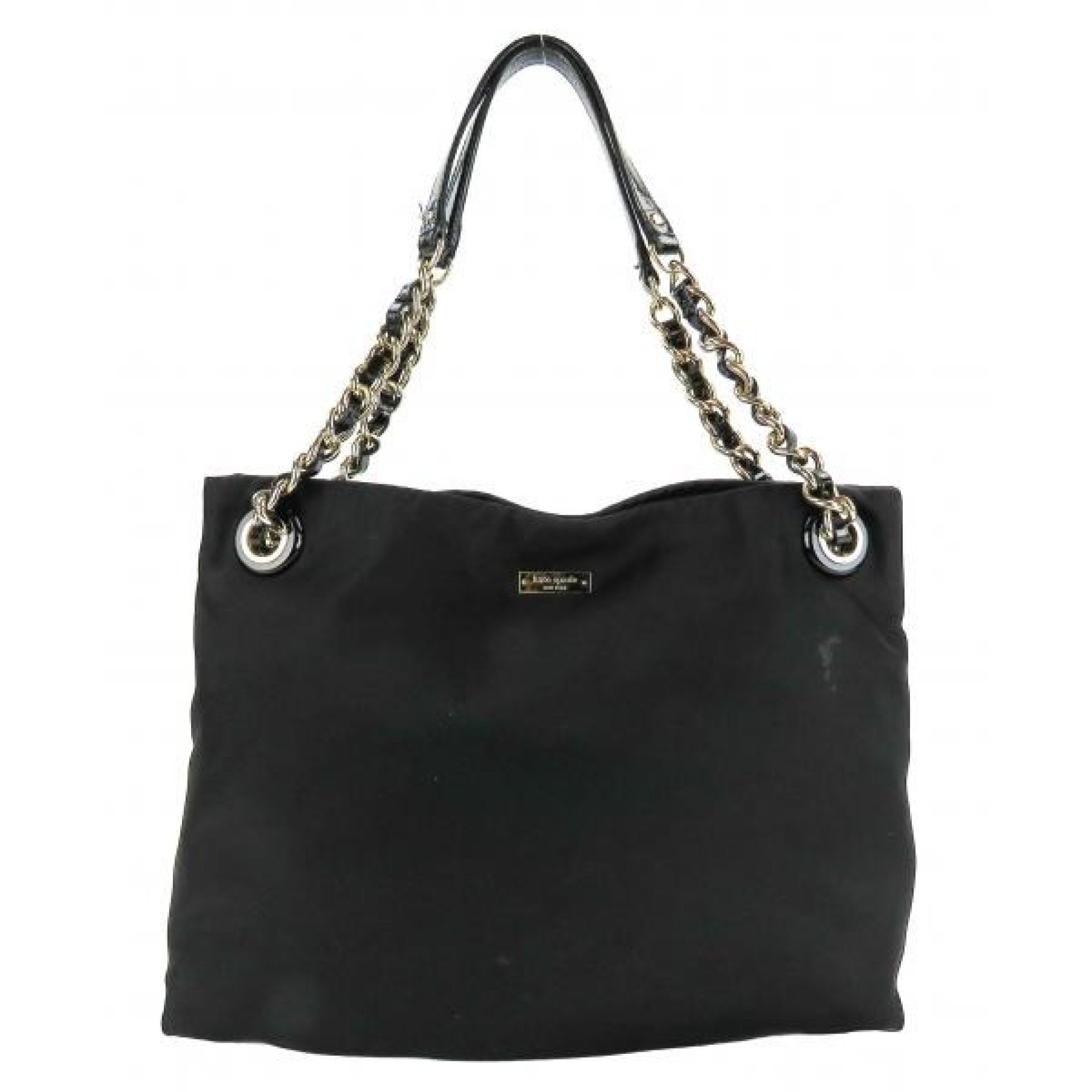Kate Spade Black Nylon Darya Chain Strap Tote Bag