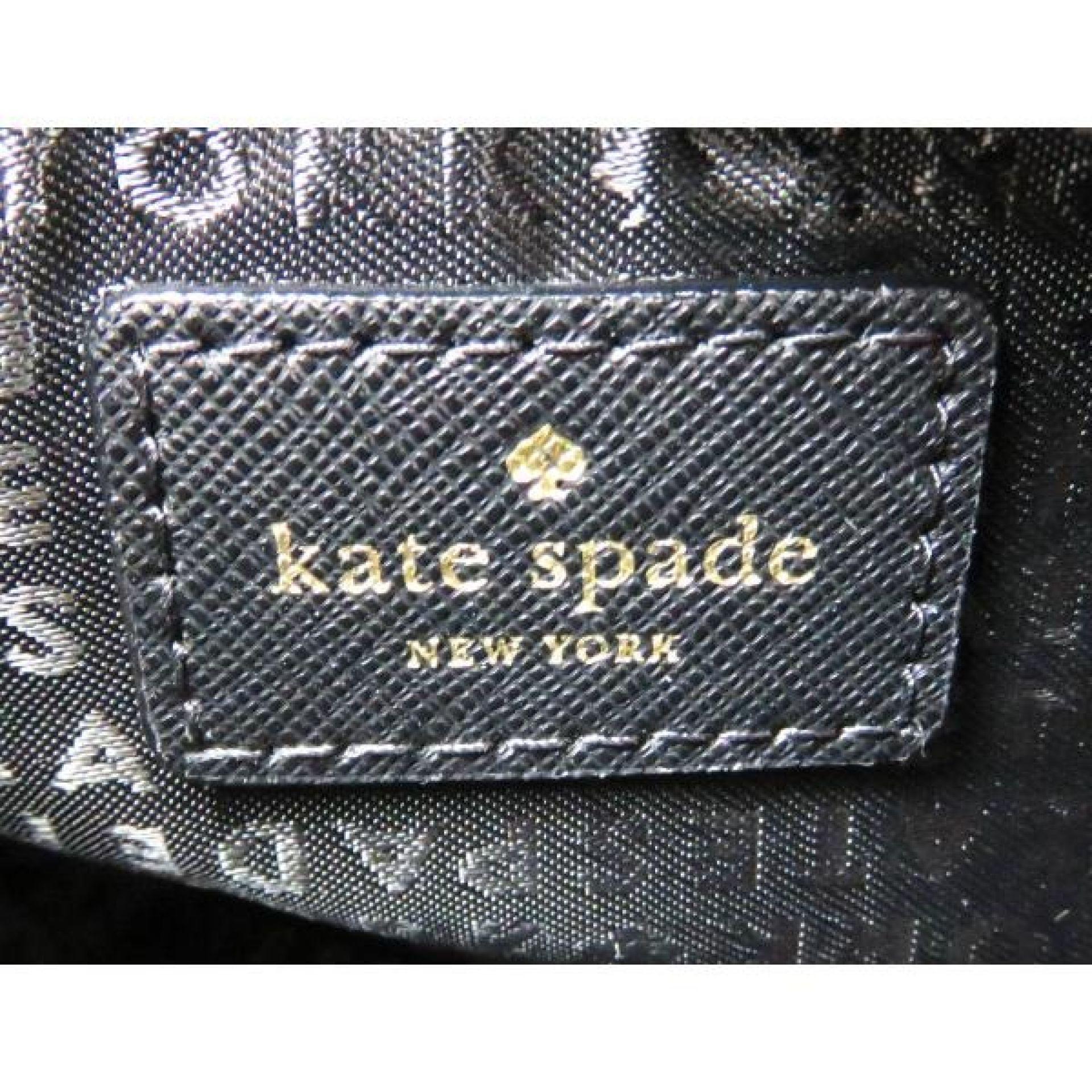 Kate Spade Black Saffiono Leather Newbury Lane Carsen Crossbody Bag
