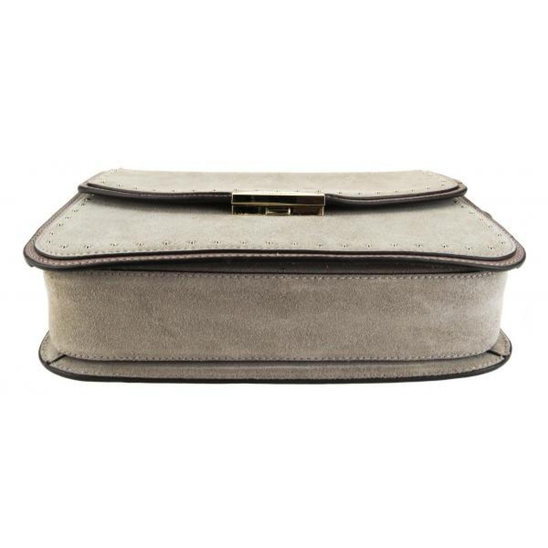 Kate Spade Grey Suede West Street Kenway Studded Tassel Shoulder Bag
