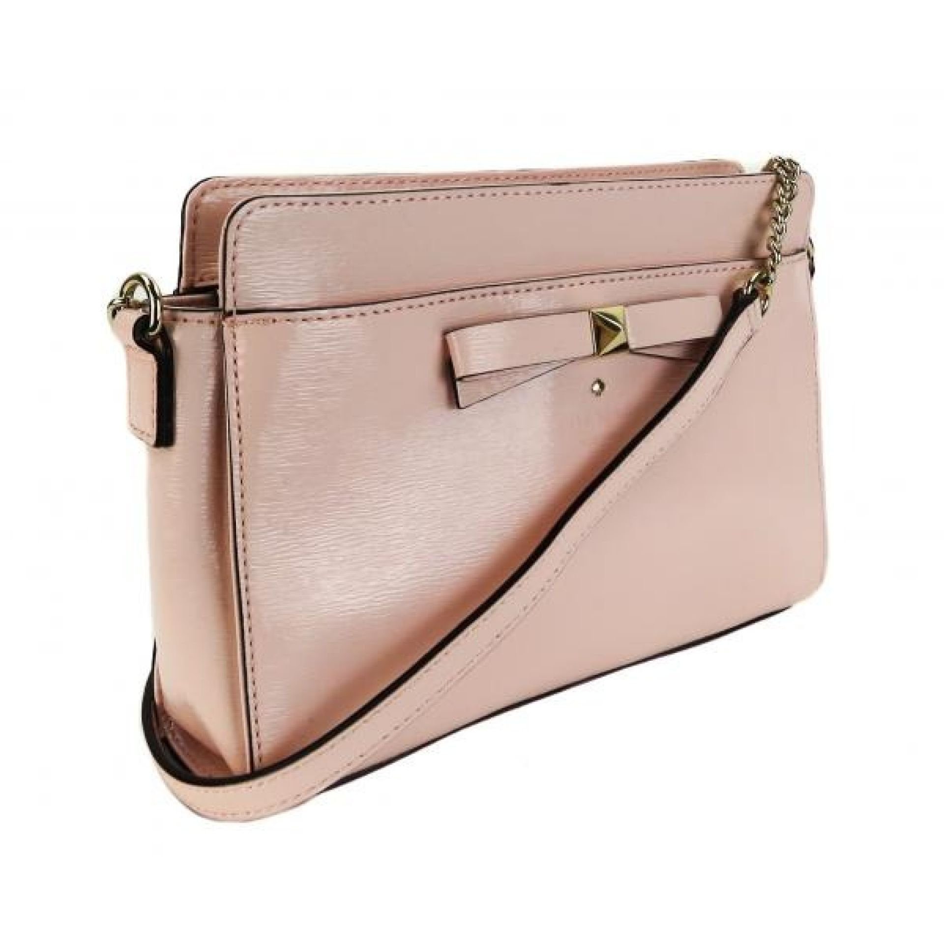 Kate Spade Pink Patent Leather Beacon Court Angelica Crossbody Bag