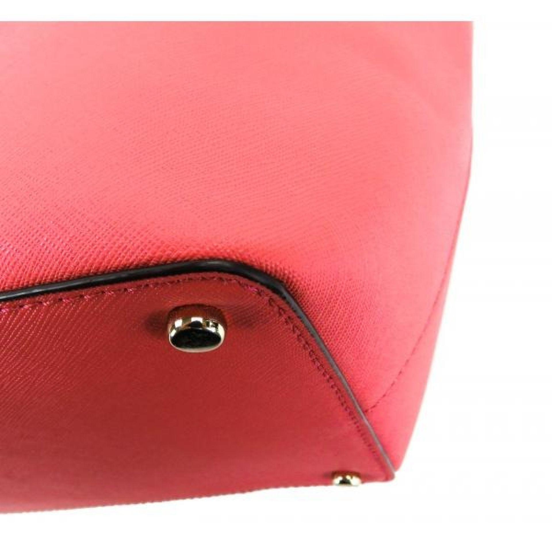 Kate Spade Pink Saffiano Leather Cedar Street Large Harmony Tote Bag