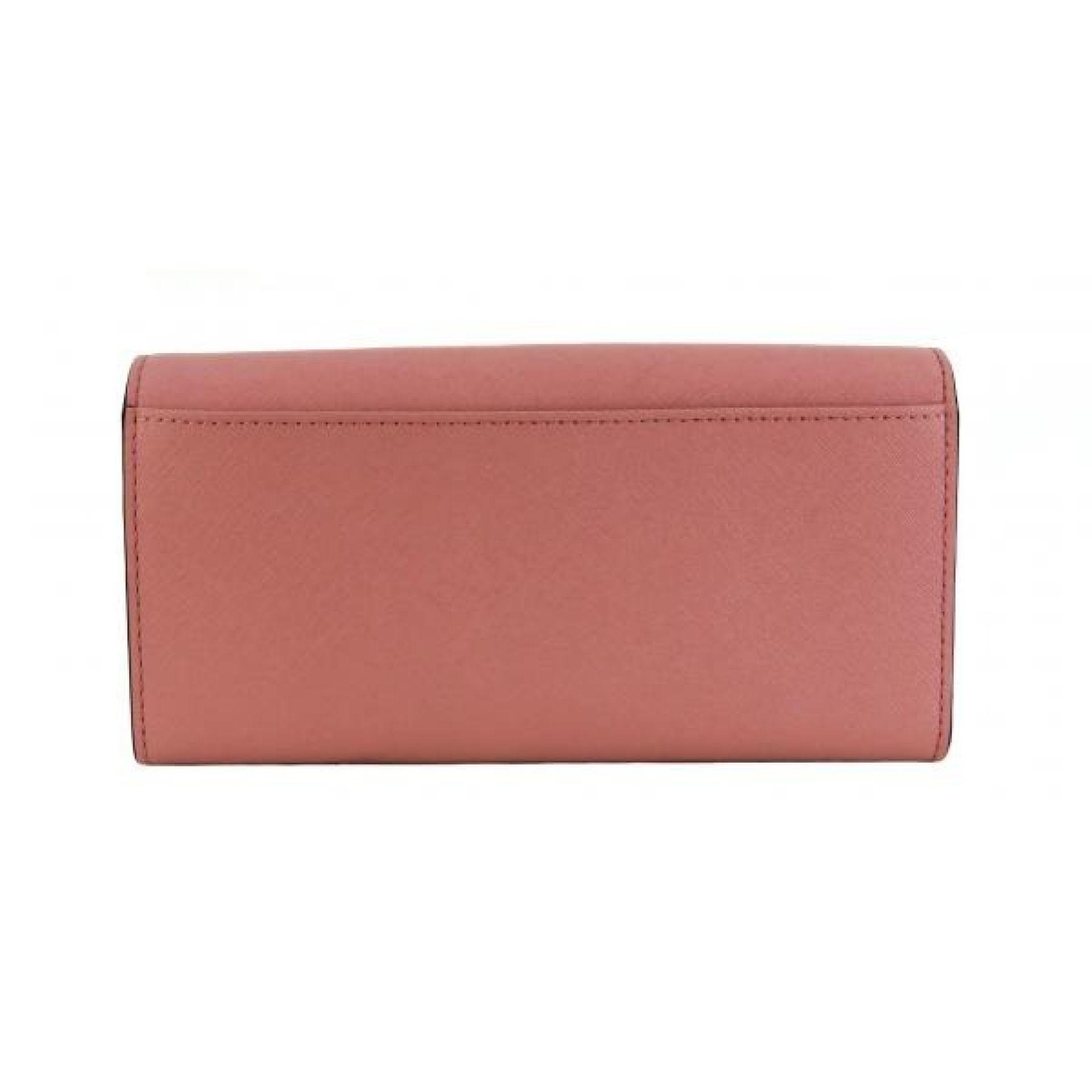 Kate Spade Pink Saffiano Leather Laurel Way Winni Clutch Wallet