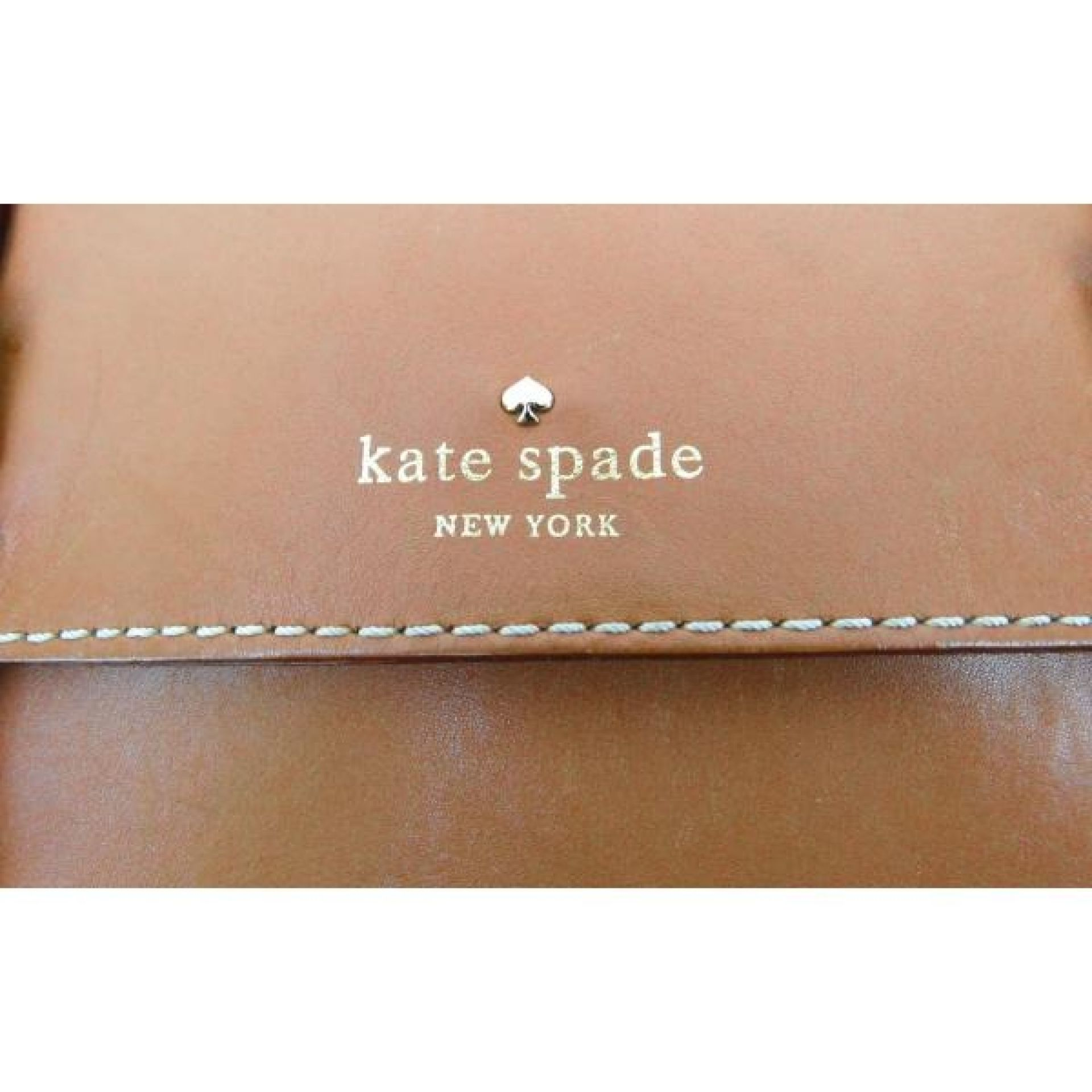 Kate Spade Tan Leather Essex Scout Messenger Crossbody Bag