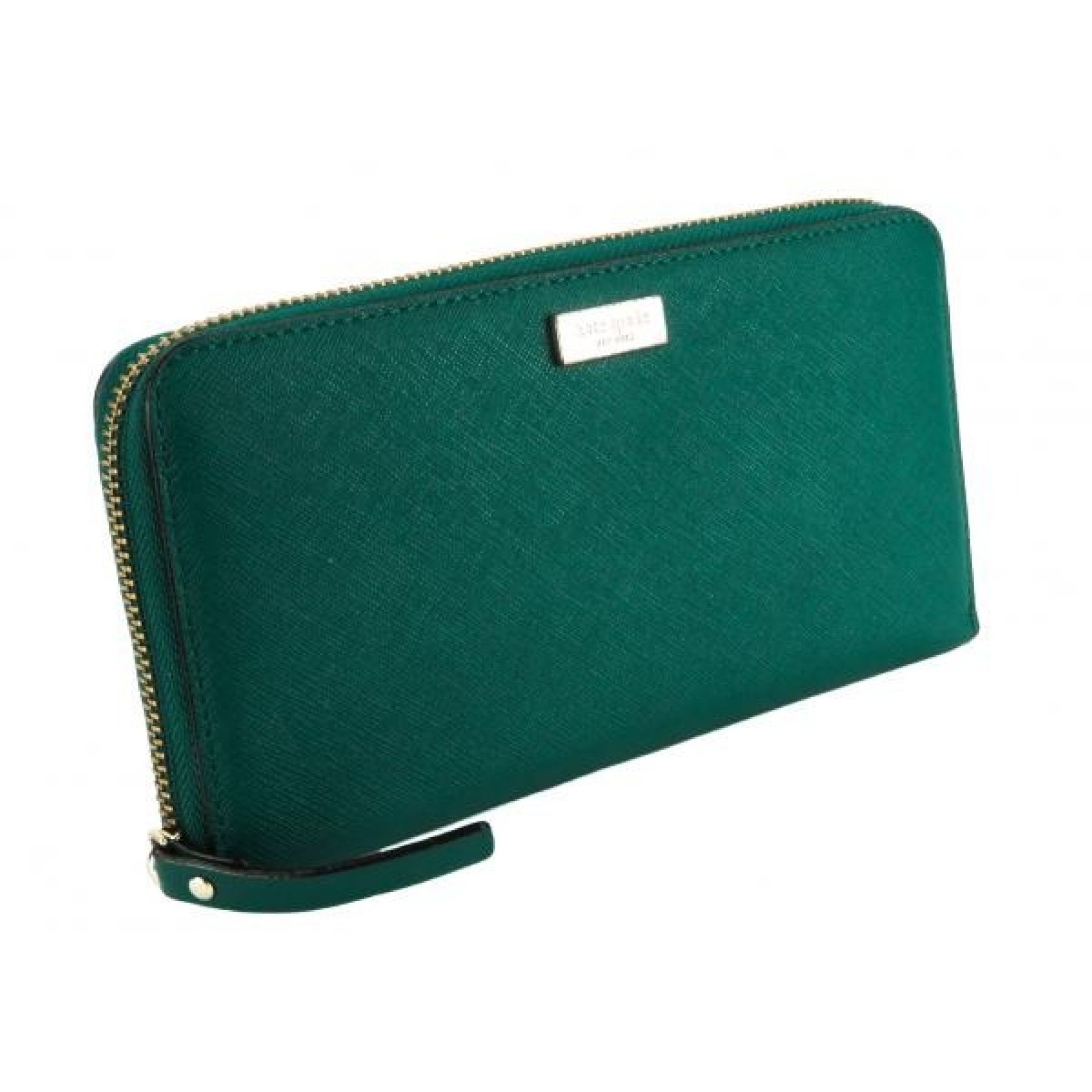 Kate Spade Teal Saffiano Leather Laurel Way Neda Zip Wallet