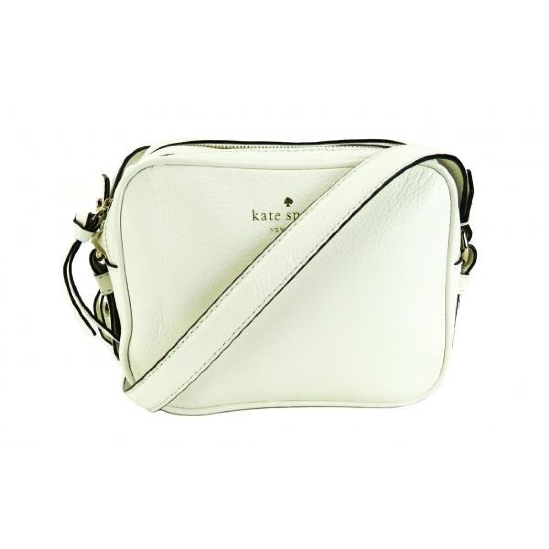 Kate Spade White Pebble Leather Mulberry Street Pyper Crossbody Bag