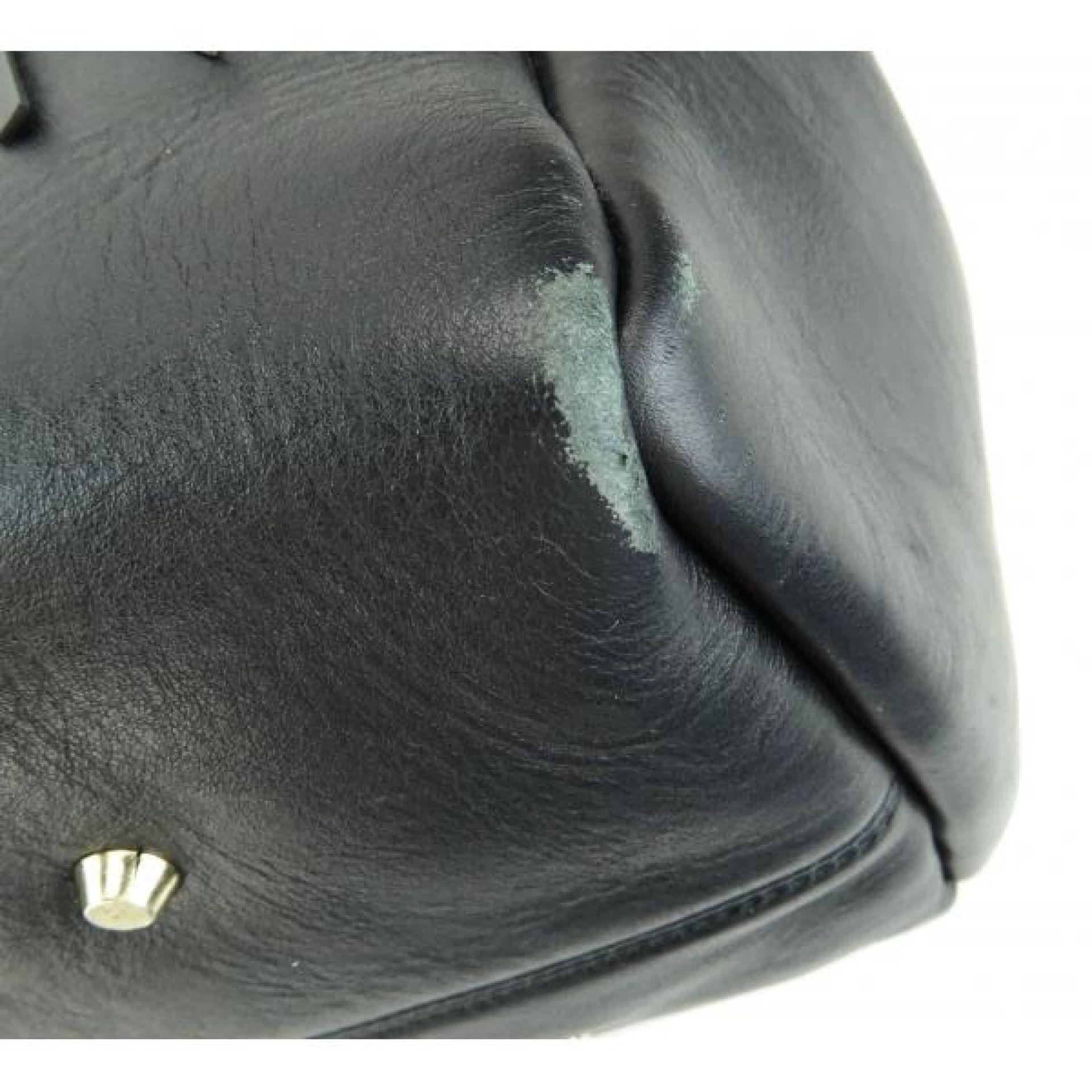 Lanvin Black Leather Fringe Extra Large Shopper Tote Bag