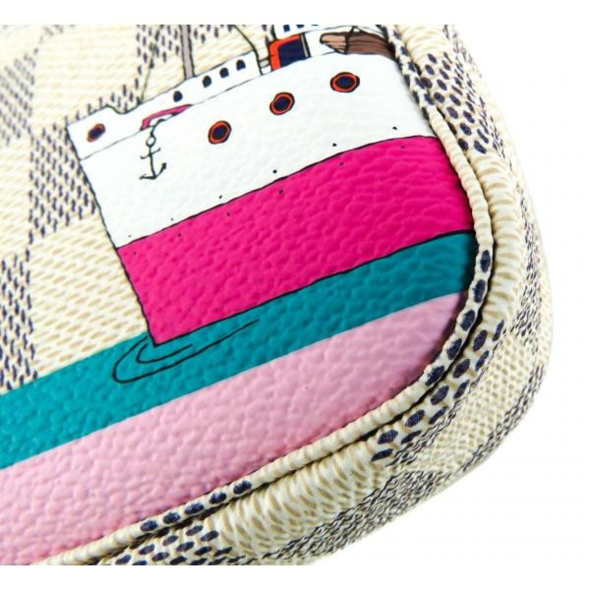 Louis Vuitton Azur Damier Canvas Limited Edition Luggage Mini Pochette Chain Wri