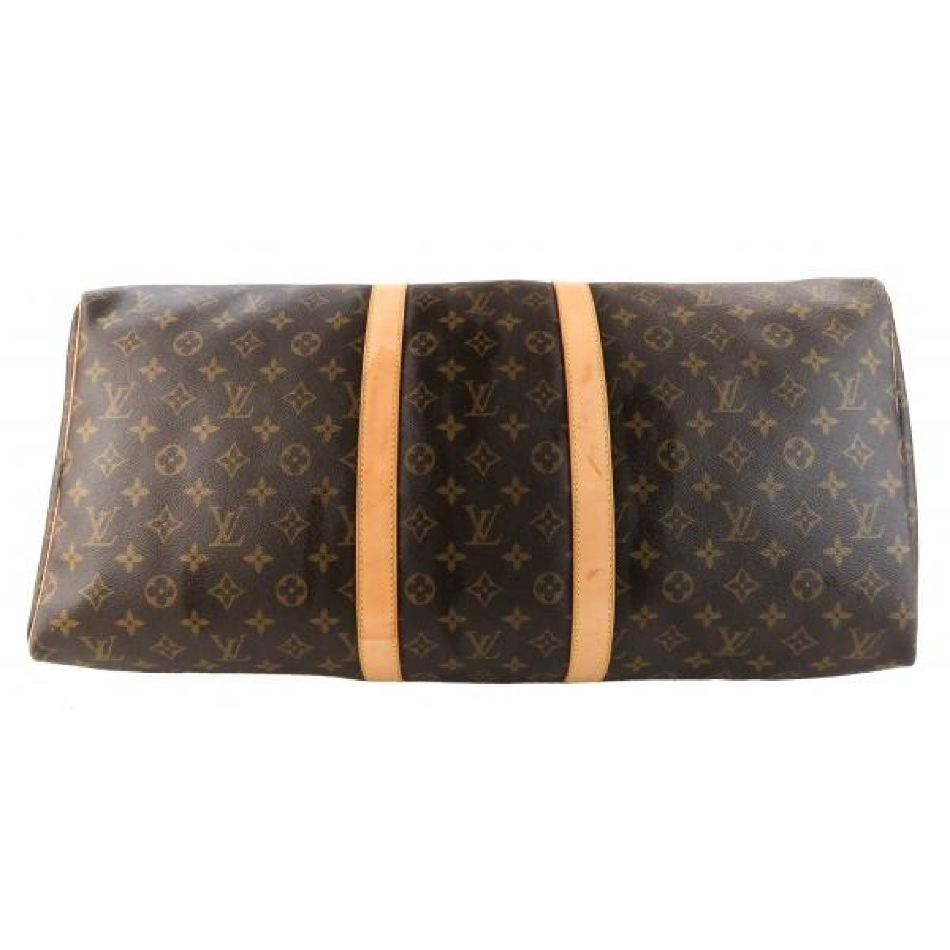 Louis Vuitton Brown Monogram Canvas Keepall 55 Luggage Duffle Bag