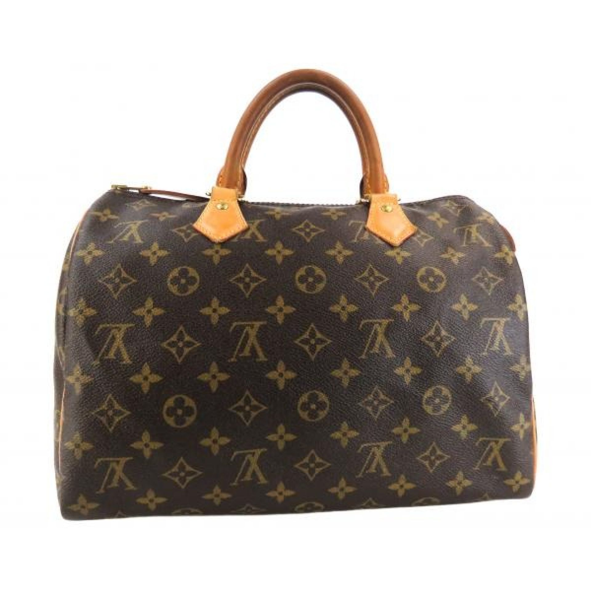 Louis Vuitton Brown Monogram Canvas Speedy 30 Satchel Bag