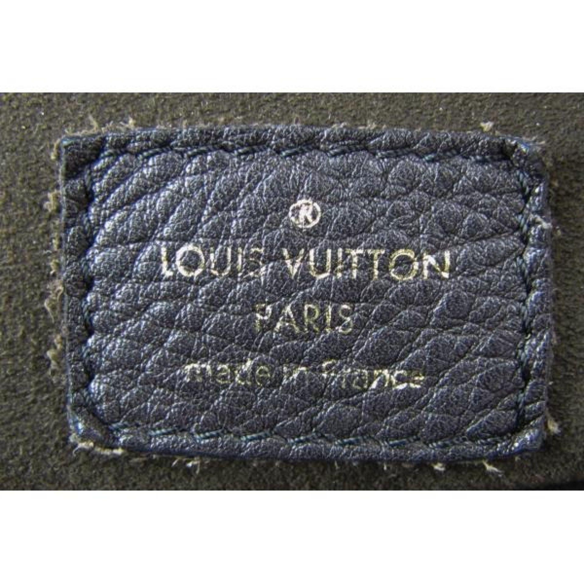 Louis Vuitton Brown Perforated Mahina Leather Lunar GM Shoulder Bag