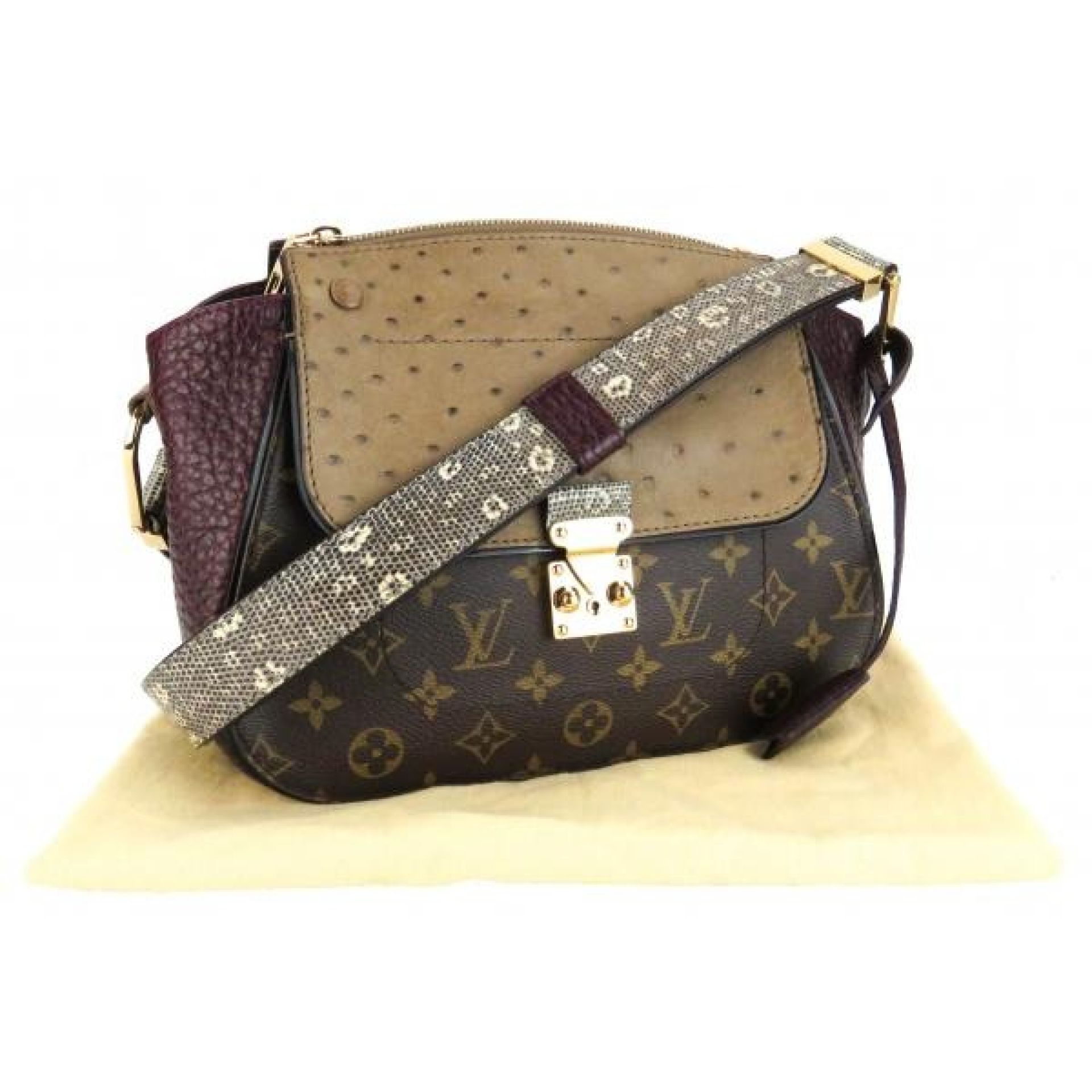 Louis Vuitton Burgundy Monogram Exotique Majestueux Shoulder Bag