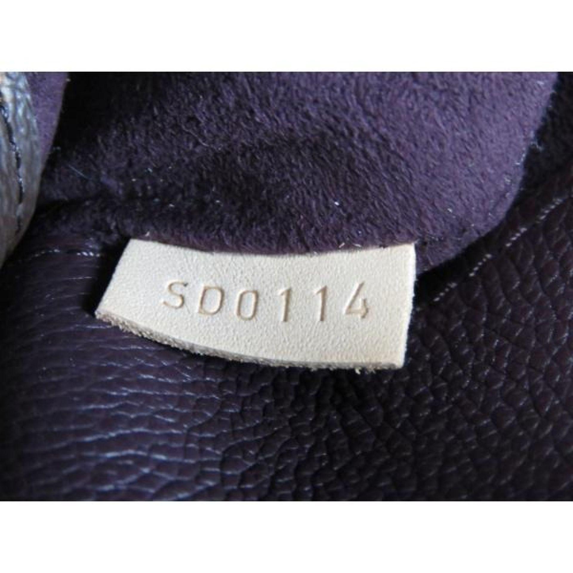 Louis Vuitton Dark Purple Monogram Canvas Pallas Satchel Bag