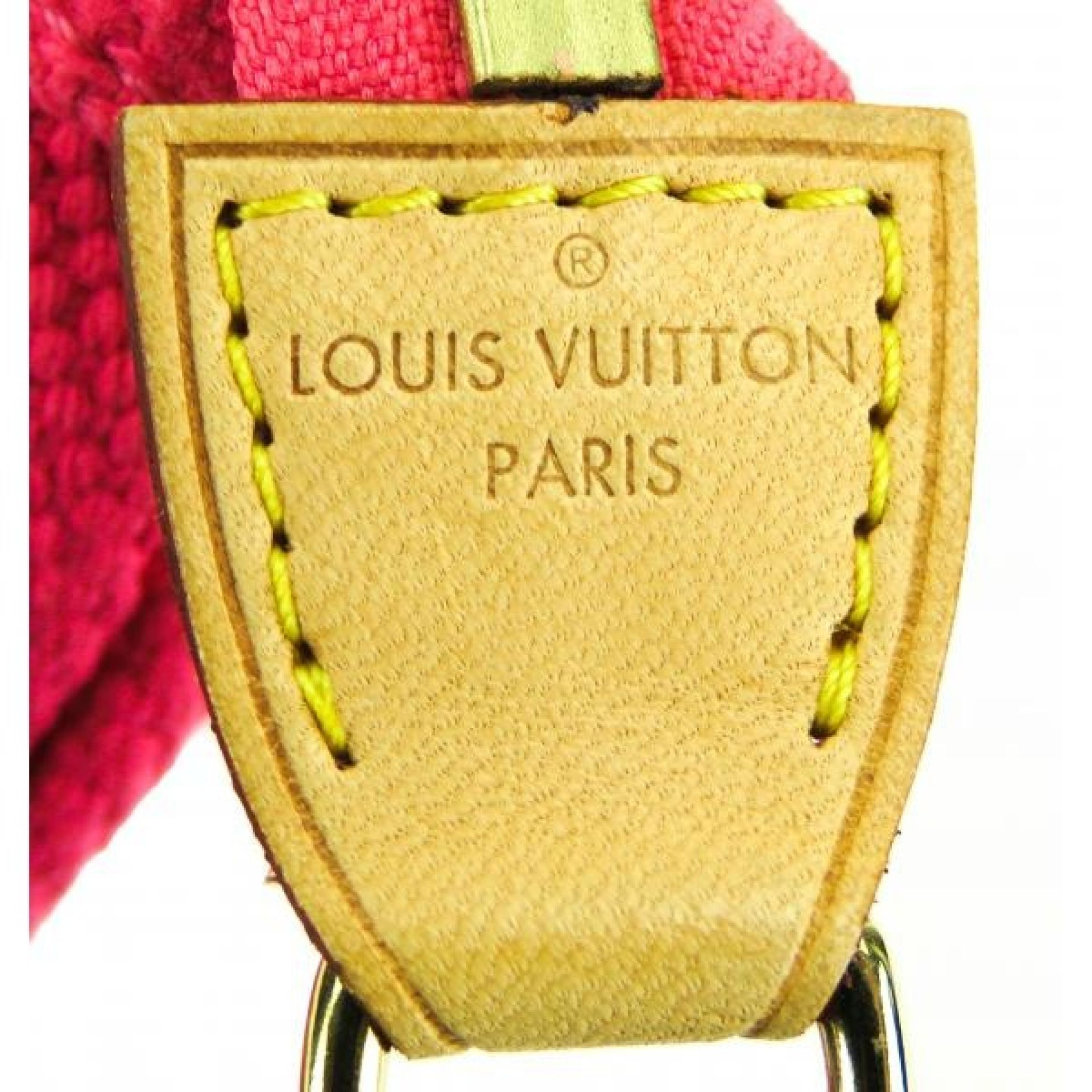 Louis Vuitton Limited Edition Pink Canvas Plate PM Pochette Bag