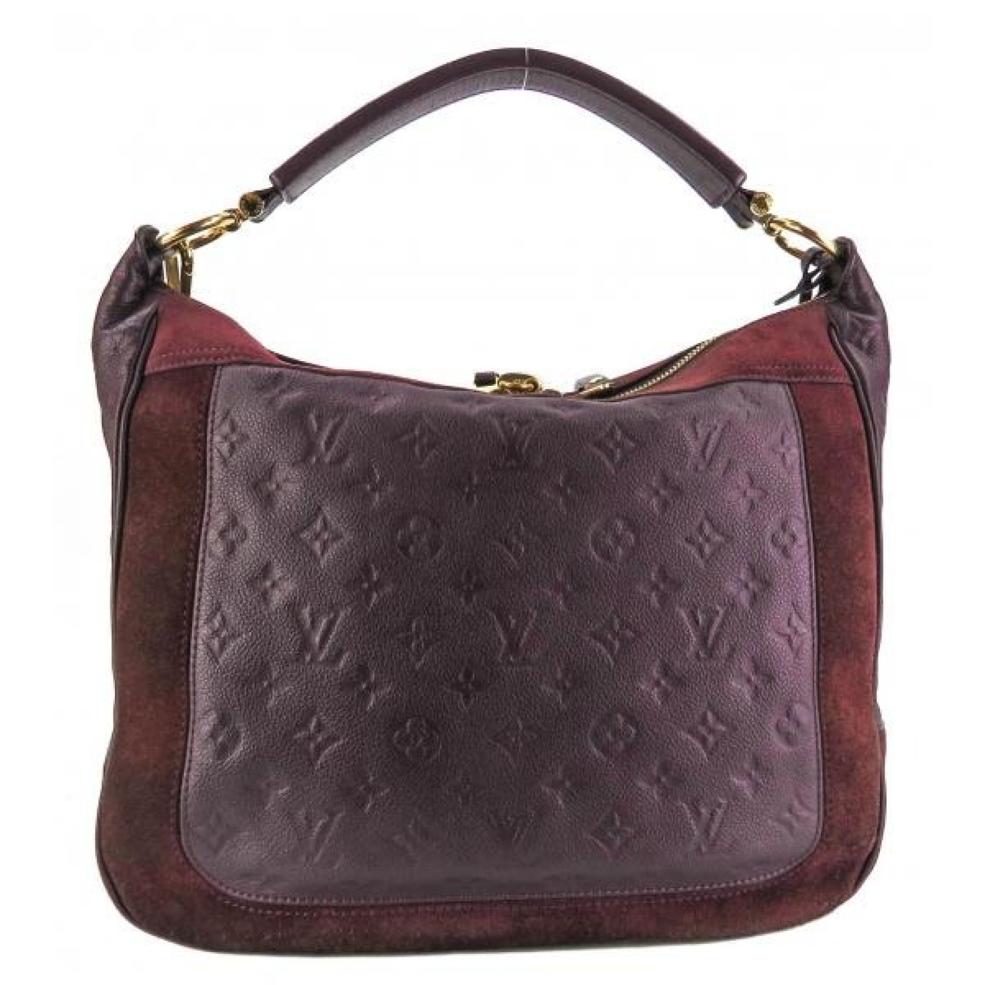 Louis Vuitton Purple Monogram Empreinte Leather Audacieuse MM Hobo Bag