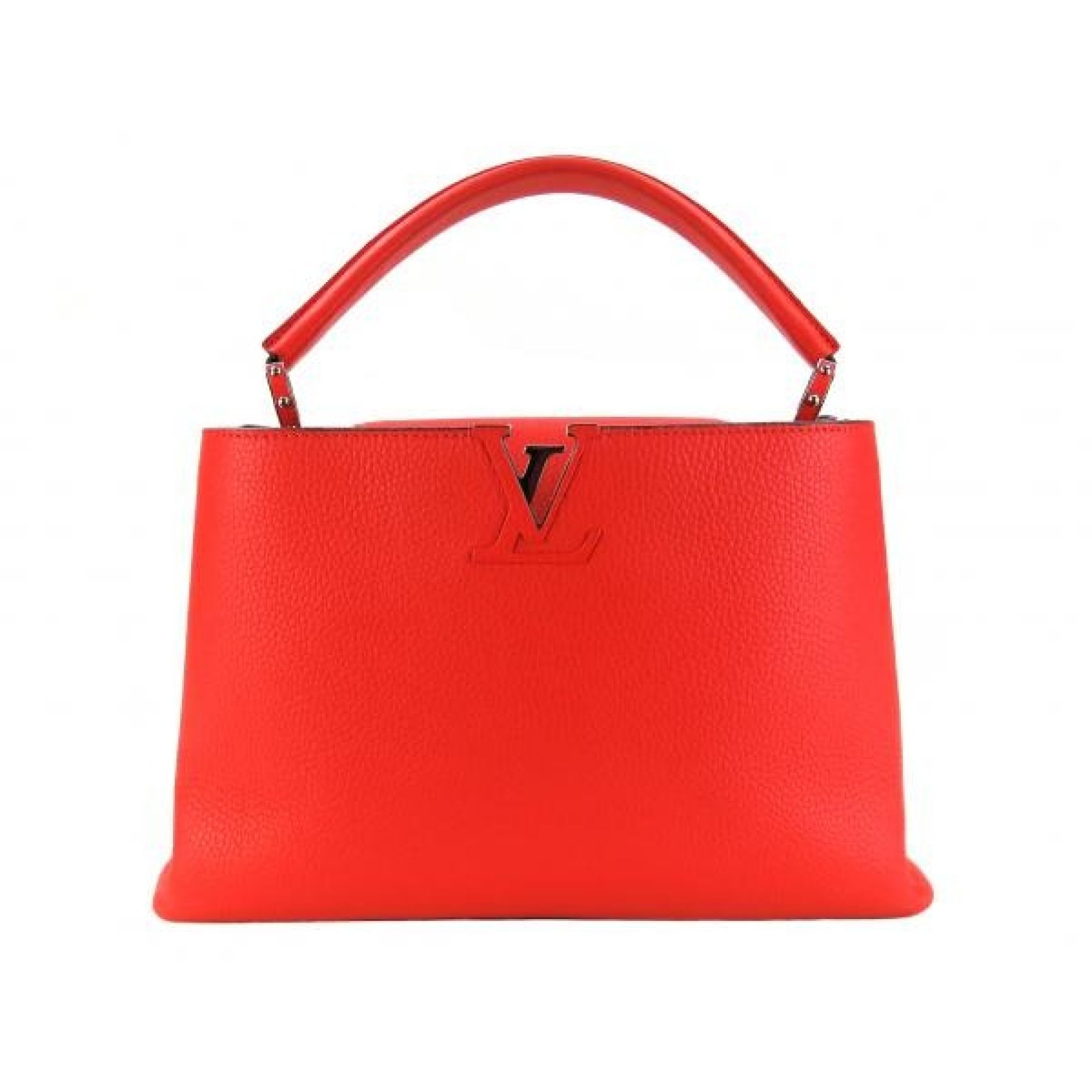 Louis Vuitton Red Taurillion Leather Capucines MM Satchel Bag