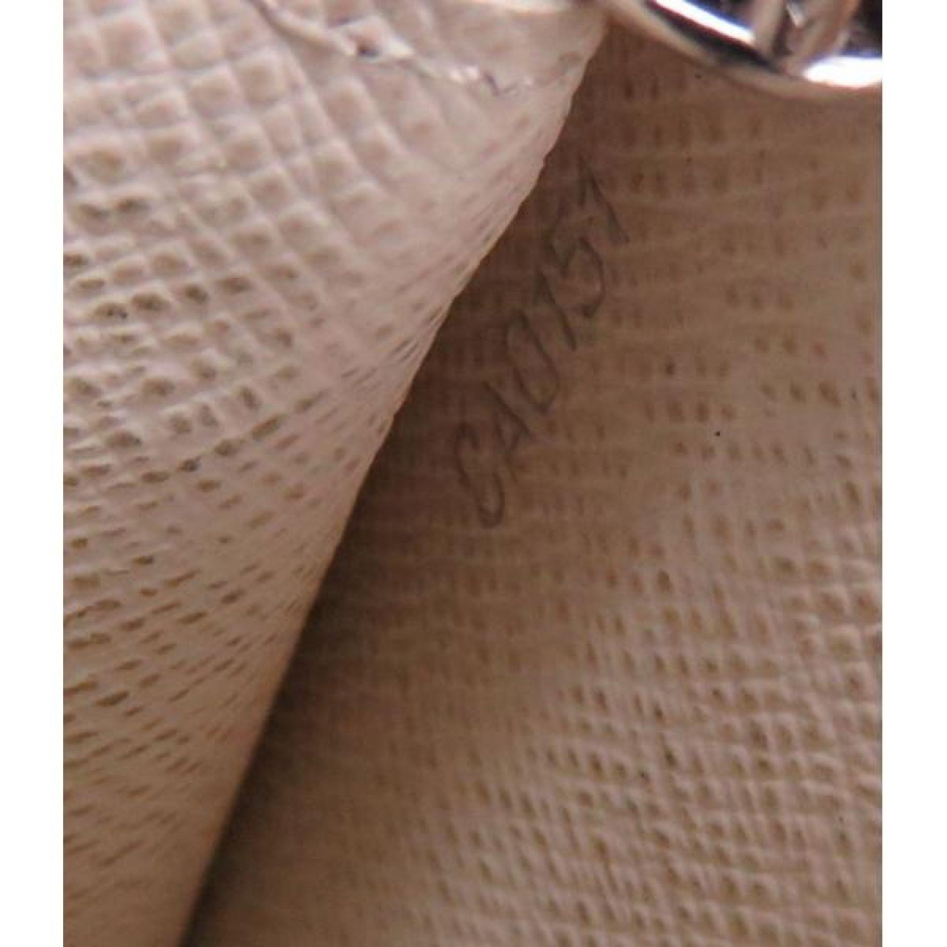 Louis Vuitton White Epi Leather Sarah Flap Wallet