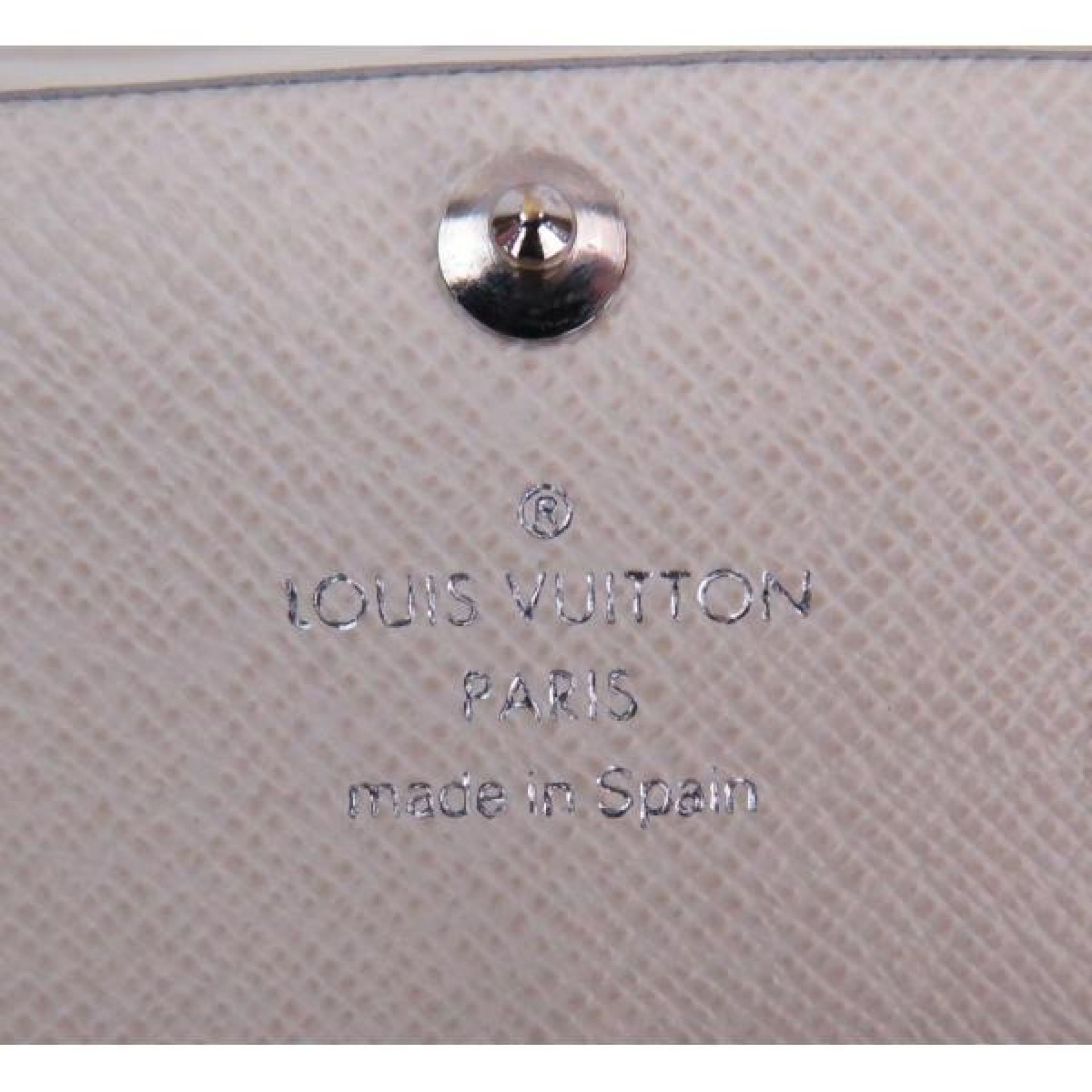 Louis Vuitton White Epi Leather Sarah Flap Wallet