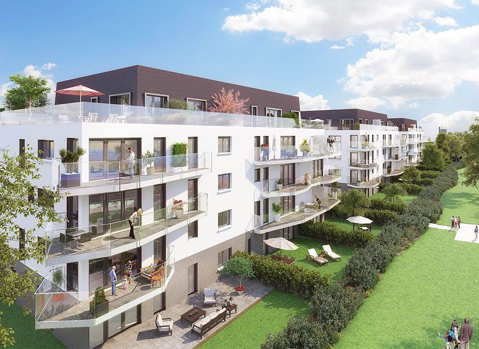 Evian-les-Bains - Apartment of 70 sq. m - Terrace of 114 sq. m - Panoramic view of the lake - 2 bedrooms - park