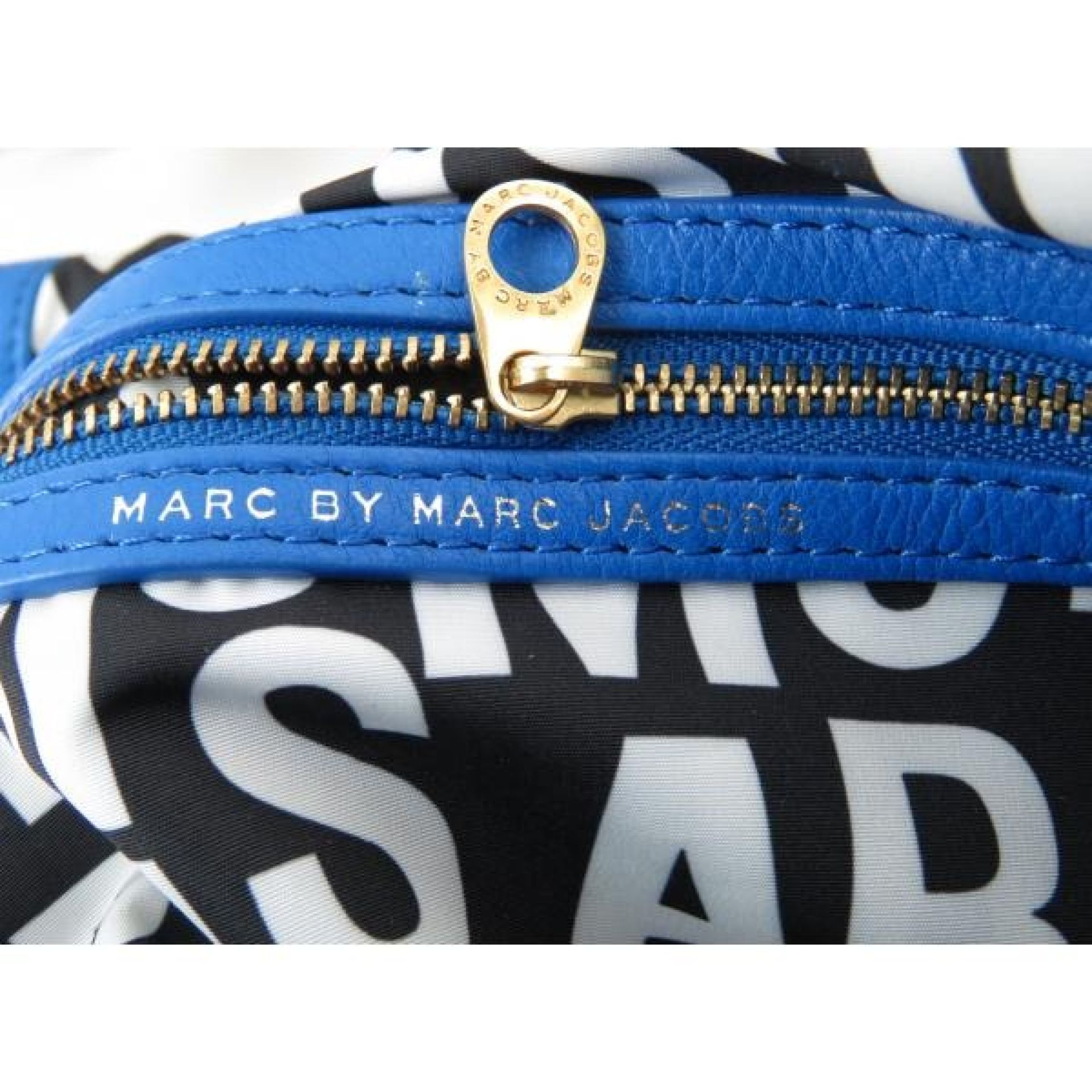 Marc by Marc Jacobs Blue Leather Classic Q Natasha Crossbody Bag