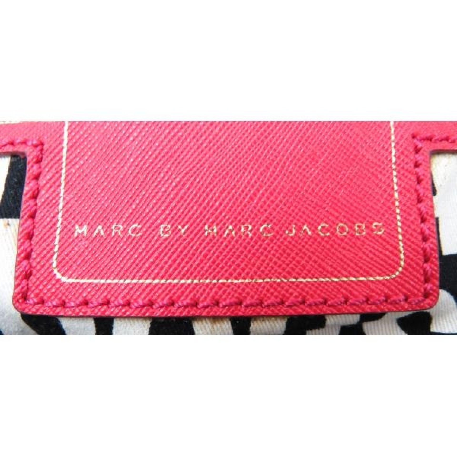 Marc by Marc Jacobs Pink Saffiano Leather Classic Shopper Tote Bag