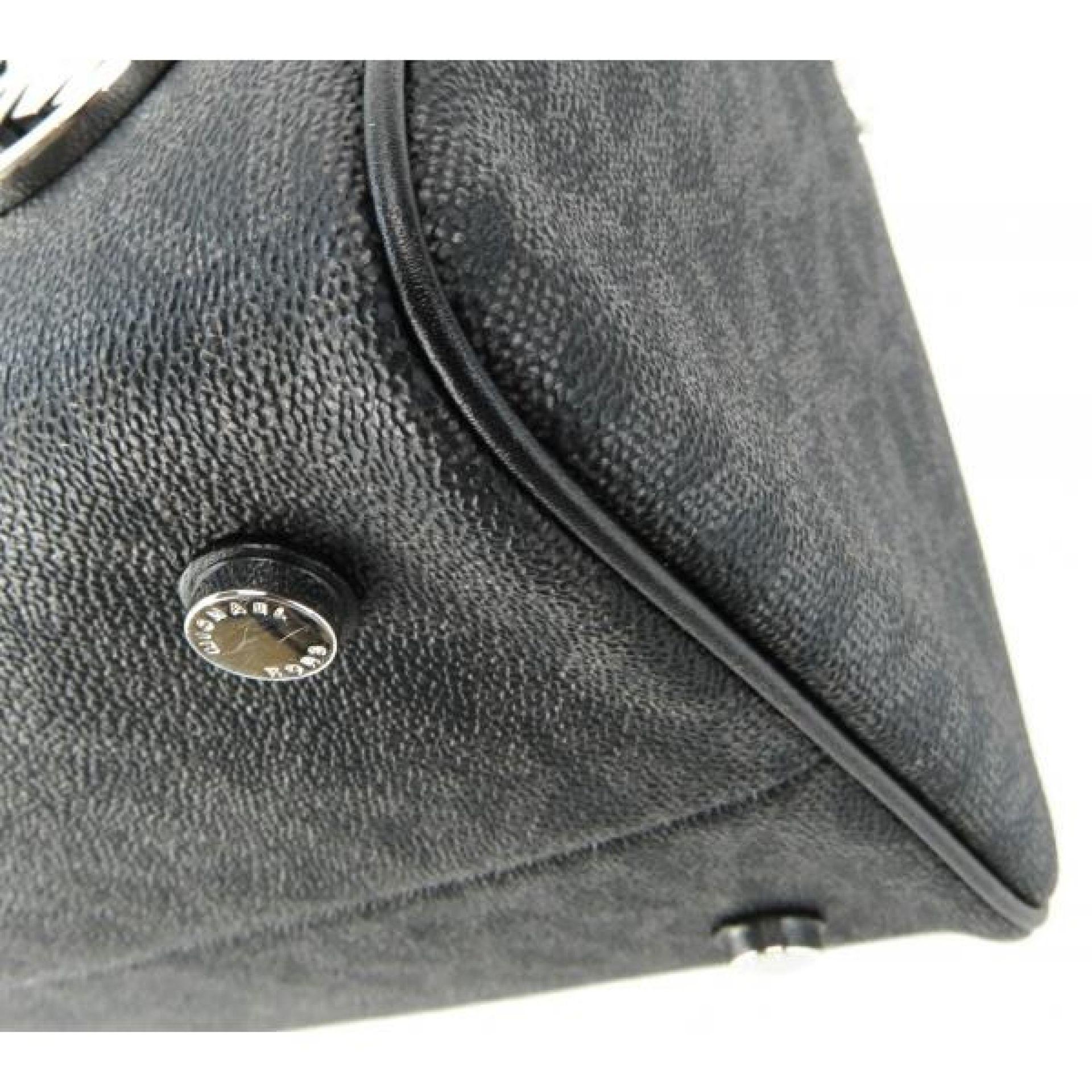 MICHAEL Michael Kors Black Monogram Canvas Grayson Convertible Satchel Bag