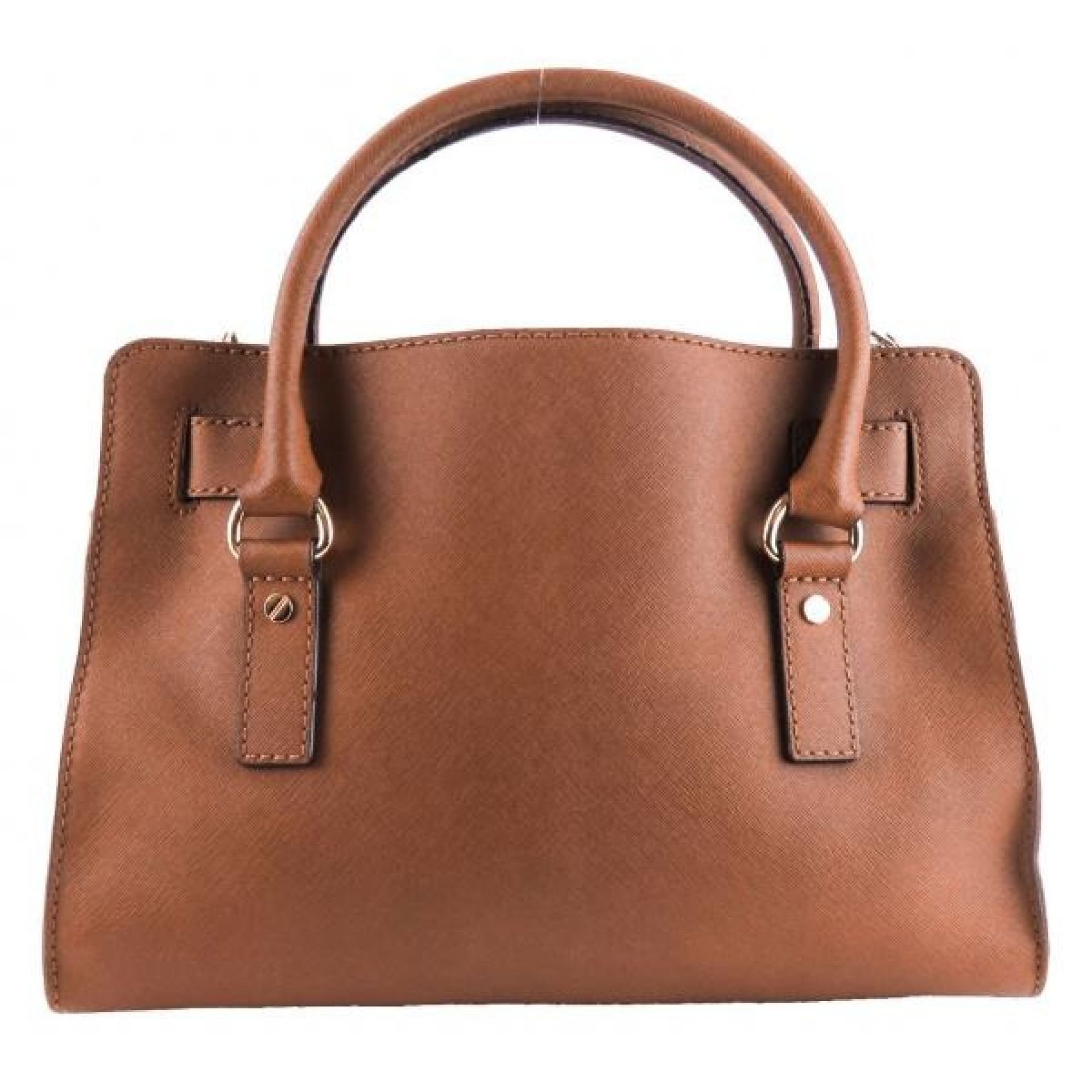 MICHAEL Michael Kors Brown Saffiano Leather Hamilton East West Satchel Bag