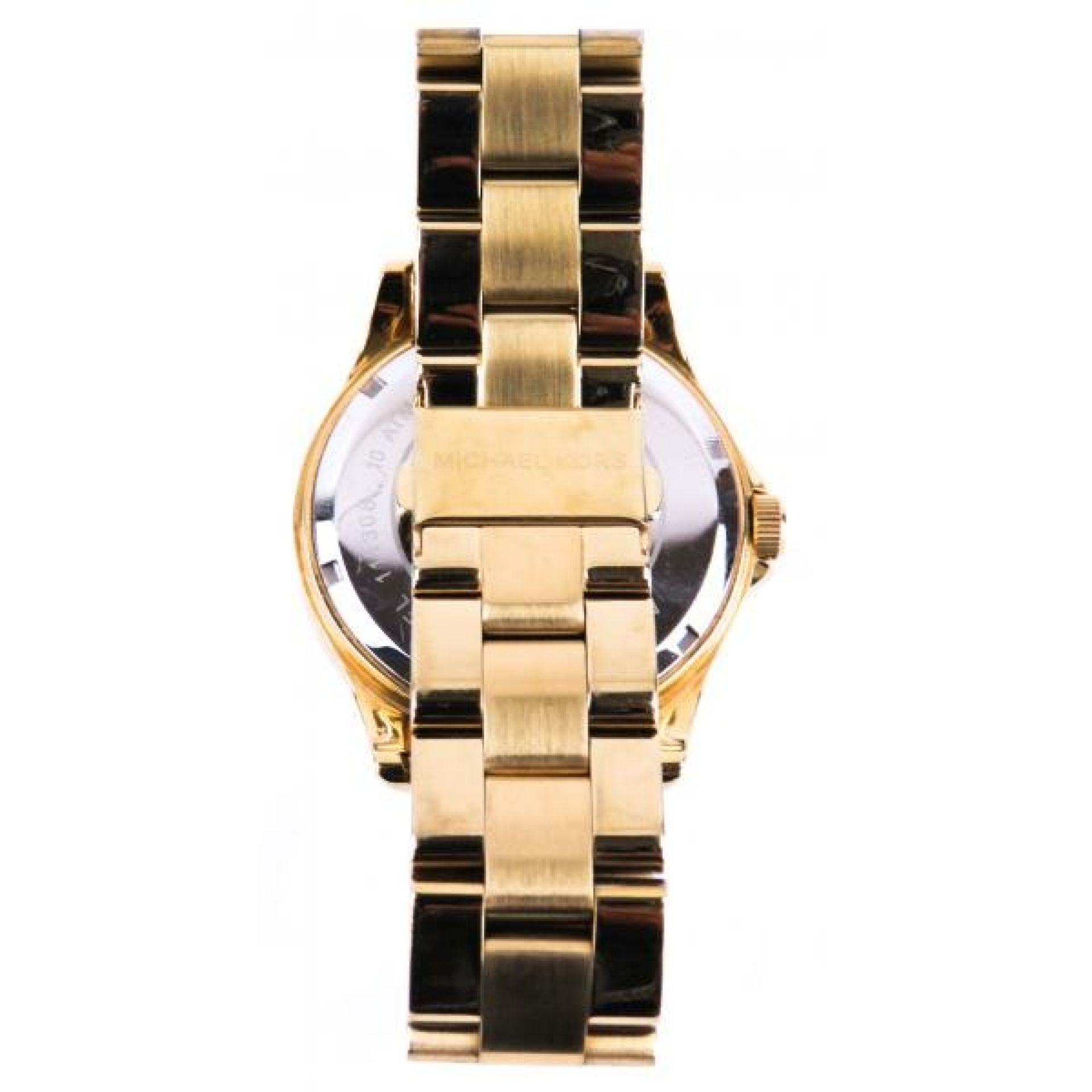 MICHAEL Michael Kors Gold-tone Mother of Pearl Crystal Madison Glitz 20mm Watch