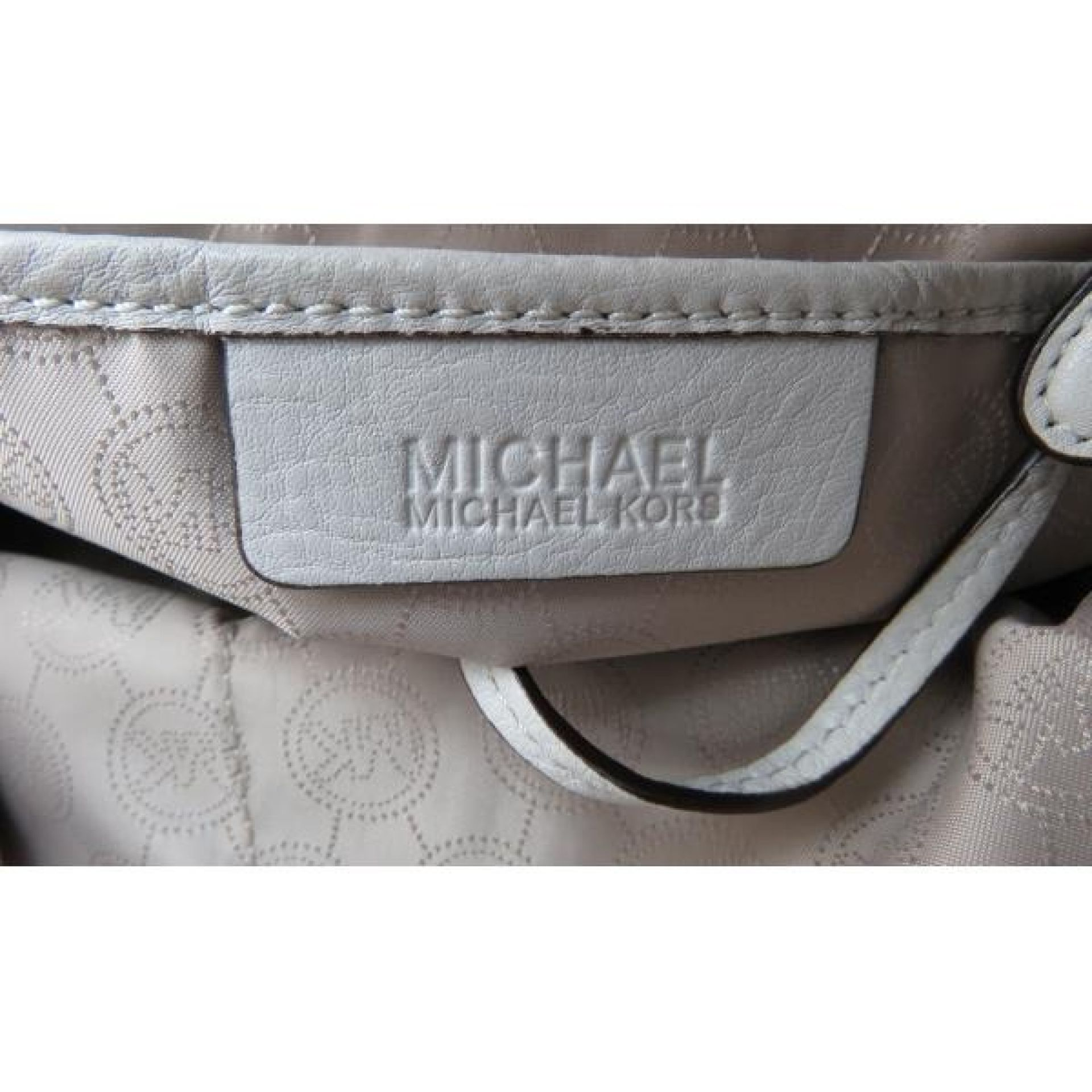 MICHAEL Michael Kors Ivory Soft Leather Chain Tote Bag