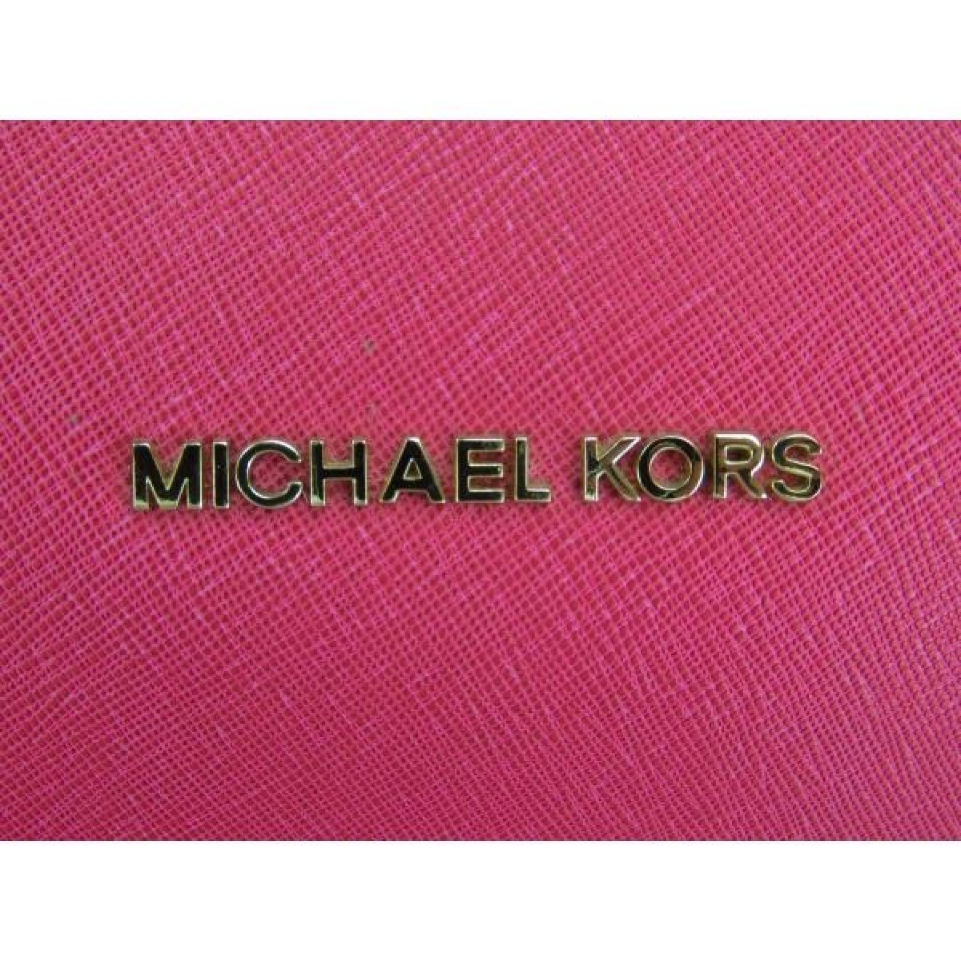 MICHAEL Michael Kors Pink Saffiano Leather Jet Set East West Tote Bag