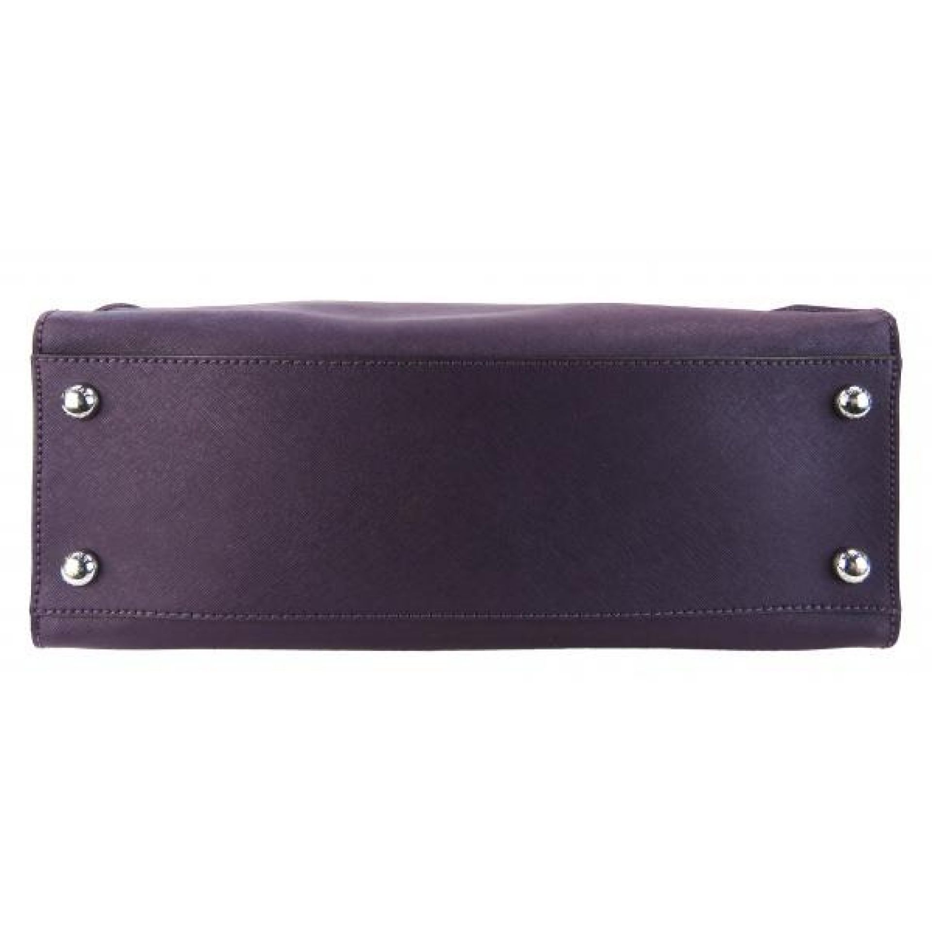 MICHAEL Michael Kors Purple Saffiano Leather Hamilton Shoulder Bag