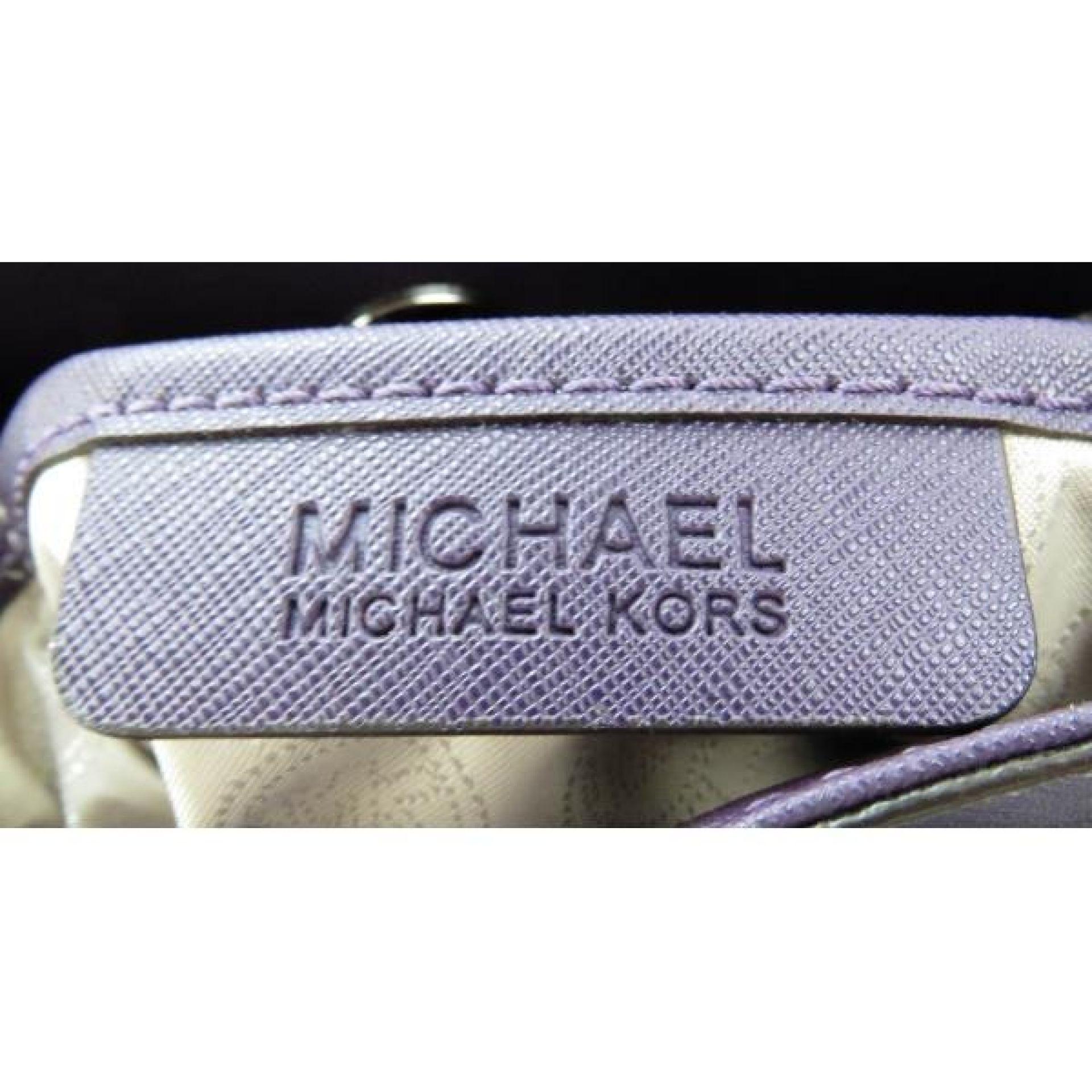 MICHAEL Michael Kors Purple Saffiano Leather Hamilton Shoulder Bag
