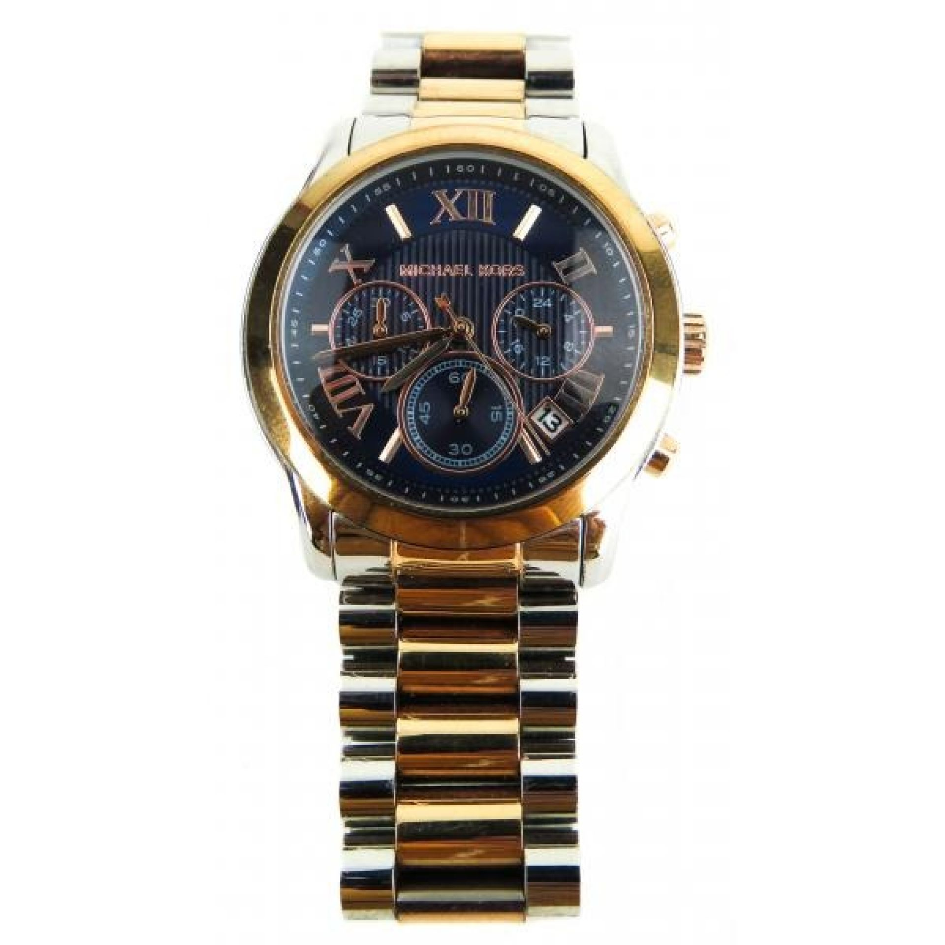 MICHAEL Michael Kors Rose Gold-tone Stainless Steel Two-Tone Chronograph Watch