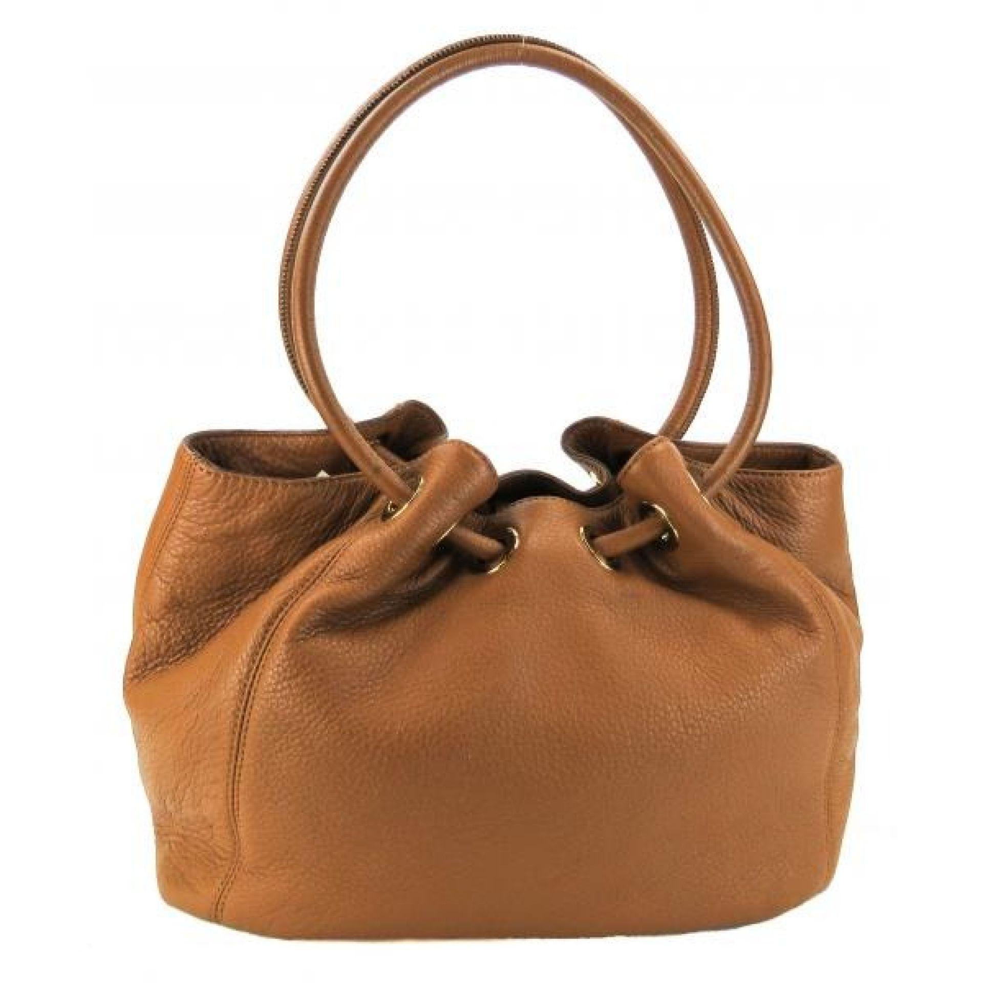 MICHAEL Michael Kors Tan Leather Medium East West Ring Tote Bag
