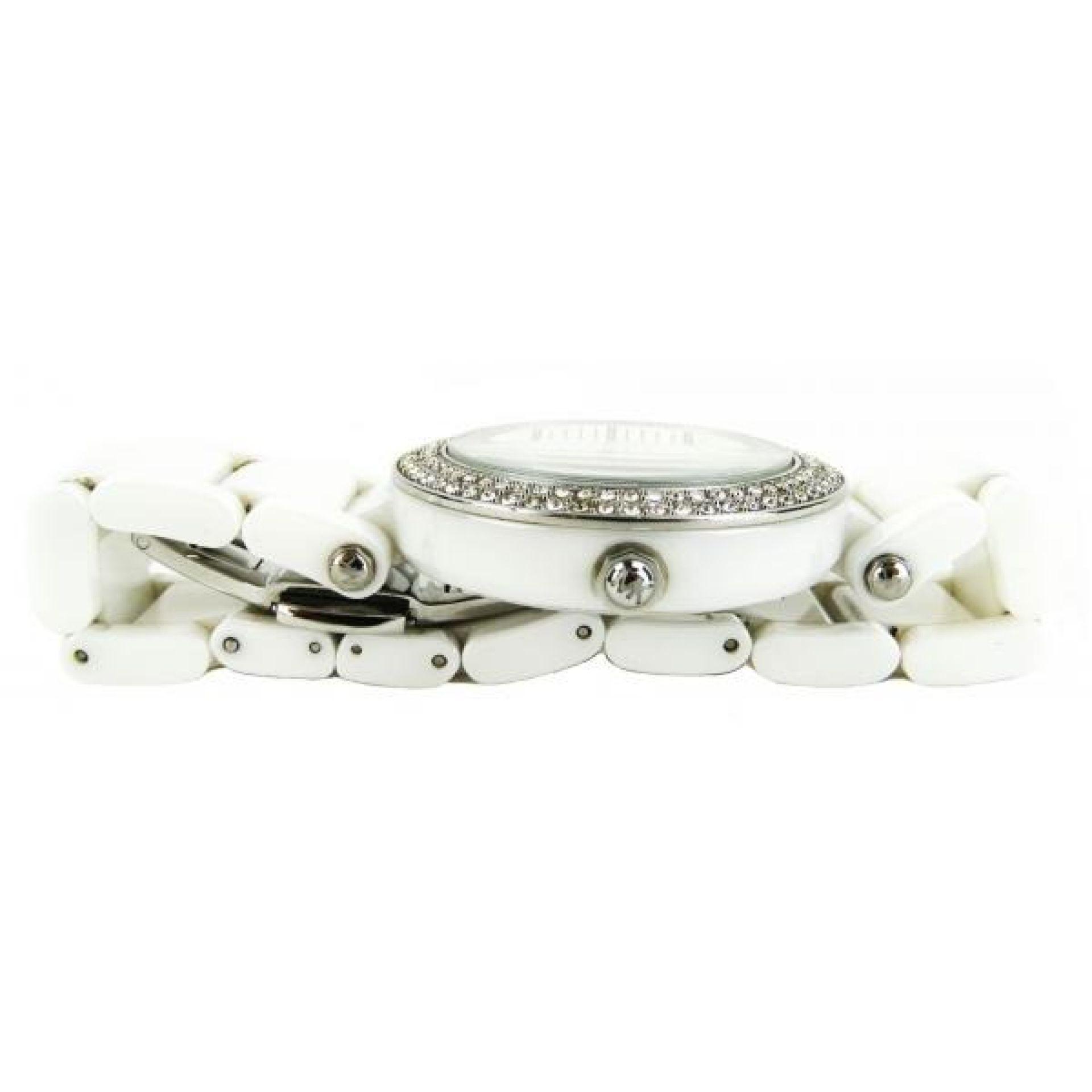 MICHAEL Michael Kors White Ceramic Sensen Crystal Mother of Pearl 20mm Watch