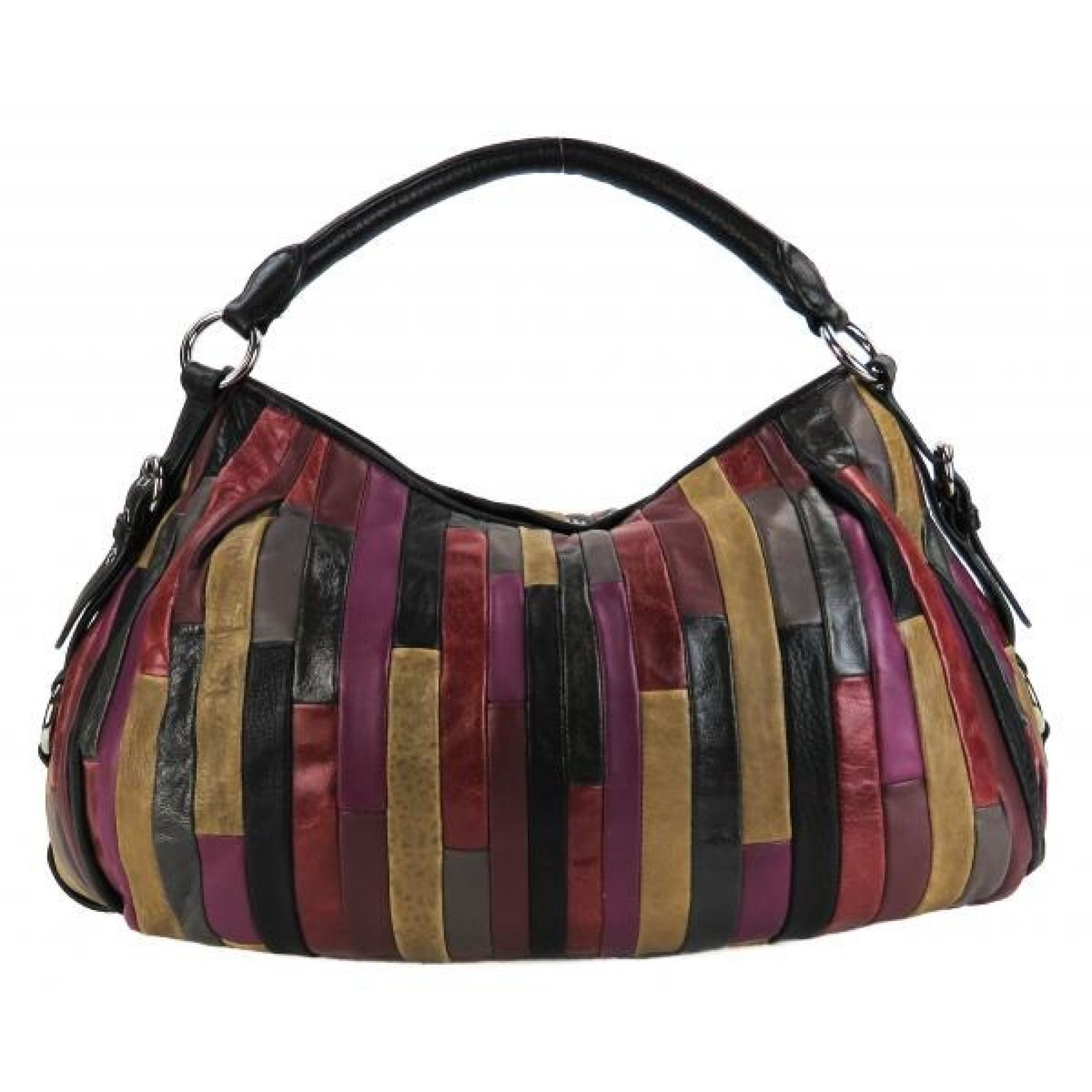 Miu Miu Multicolor Nappa Leather Amarena Patchwork Hobo Bag