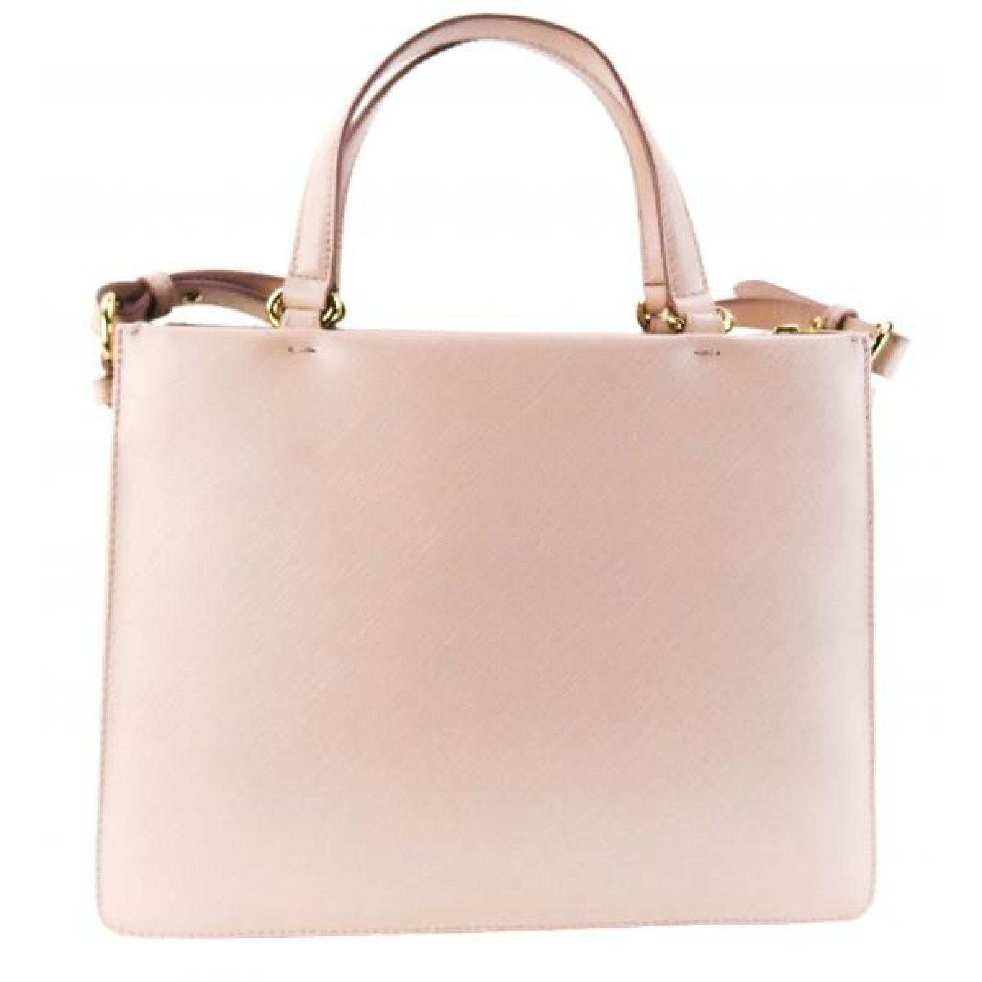 Salvatore Ferragamo Light Pink Saffiano Leather Tracy Classic Vara Bow Satchel B