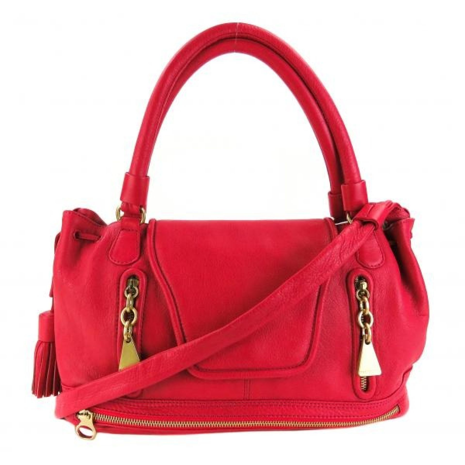 See By Chloe Pink Leather Cherry Tassel Satchel Bag