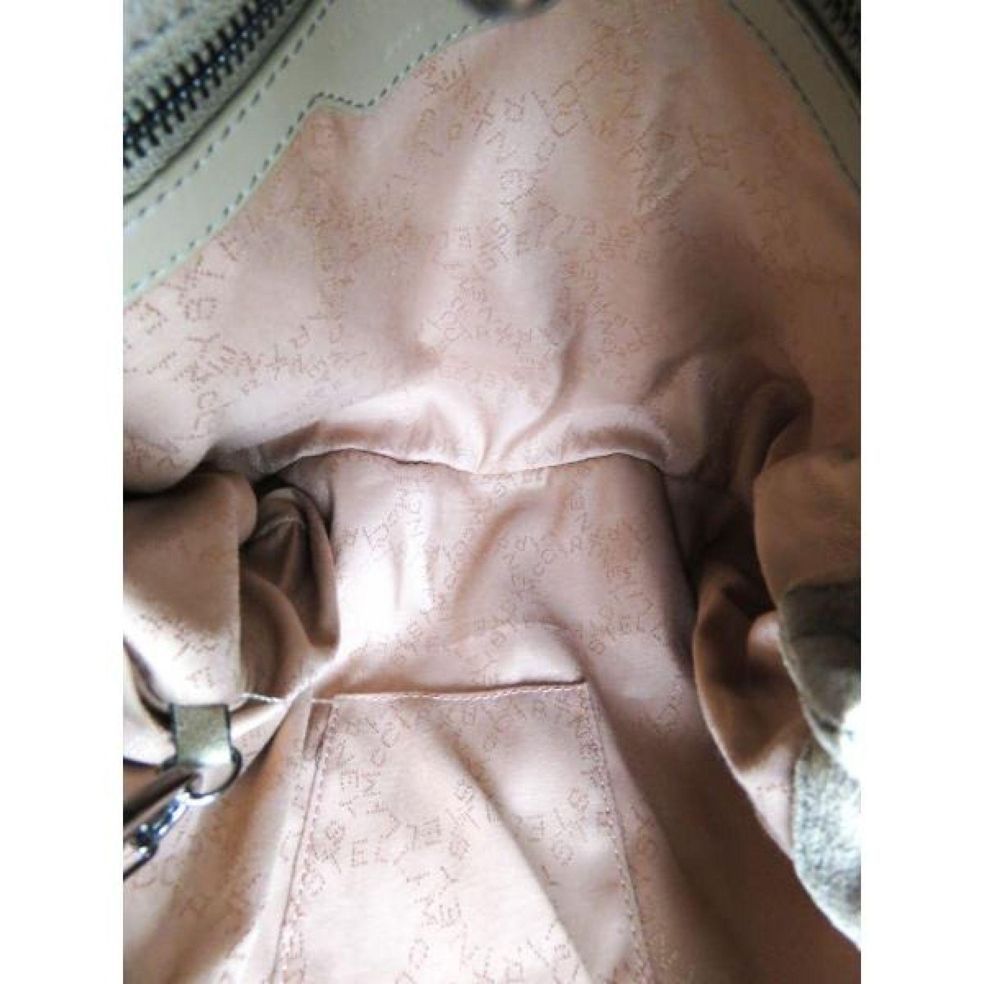 Stella McCartney Beige Falabella Shaggy Deer Foldover Tote Bag