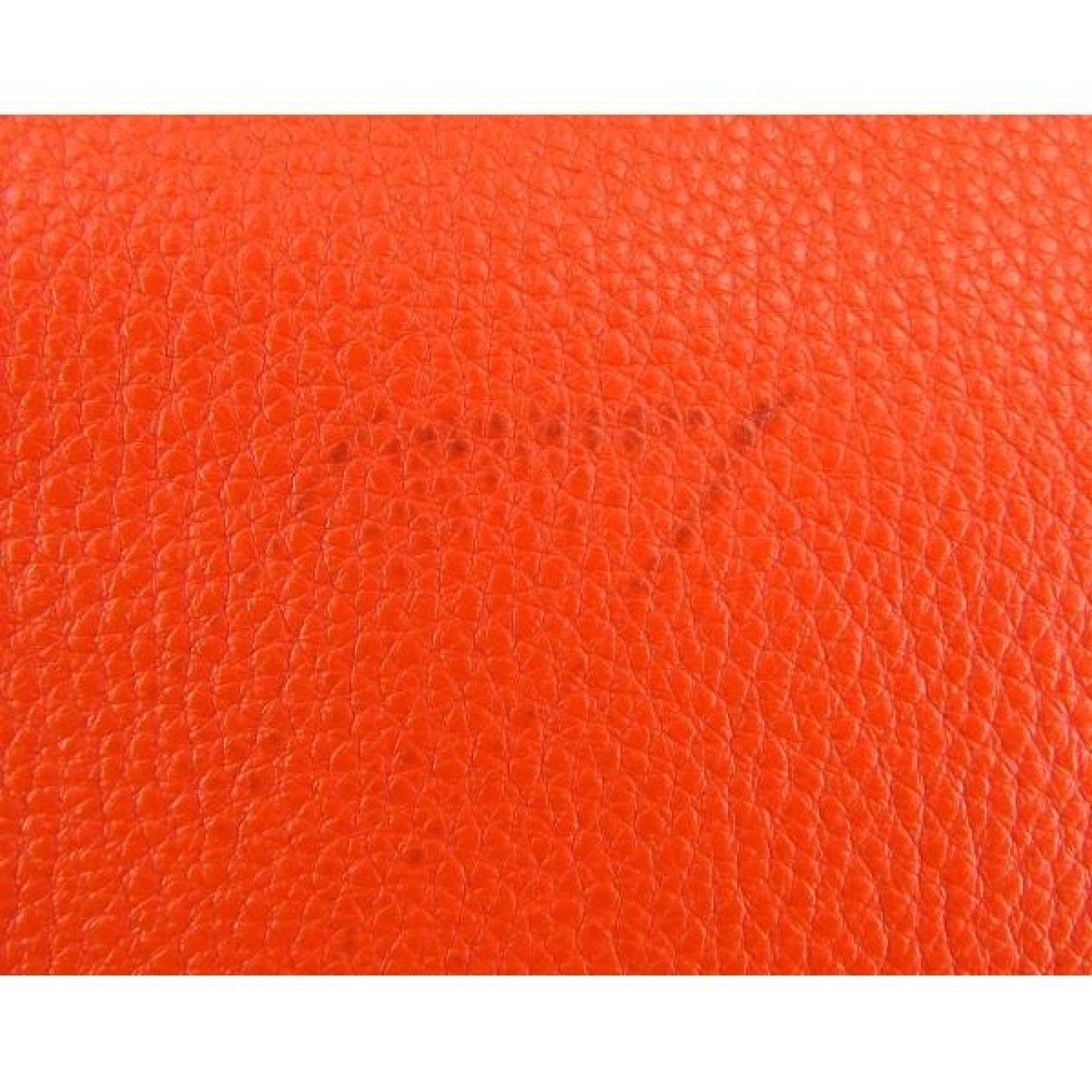 Tory Burch Orange Leather Marion Tote Bag